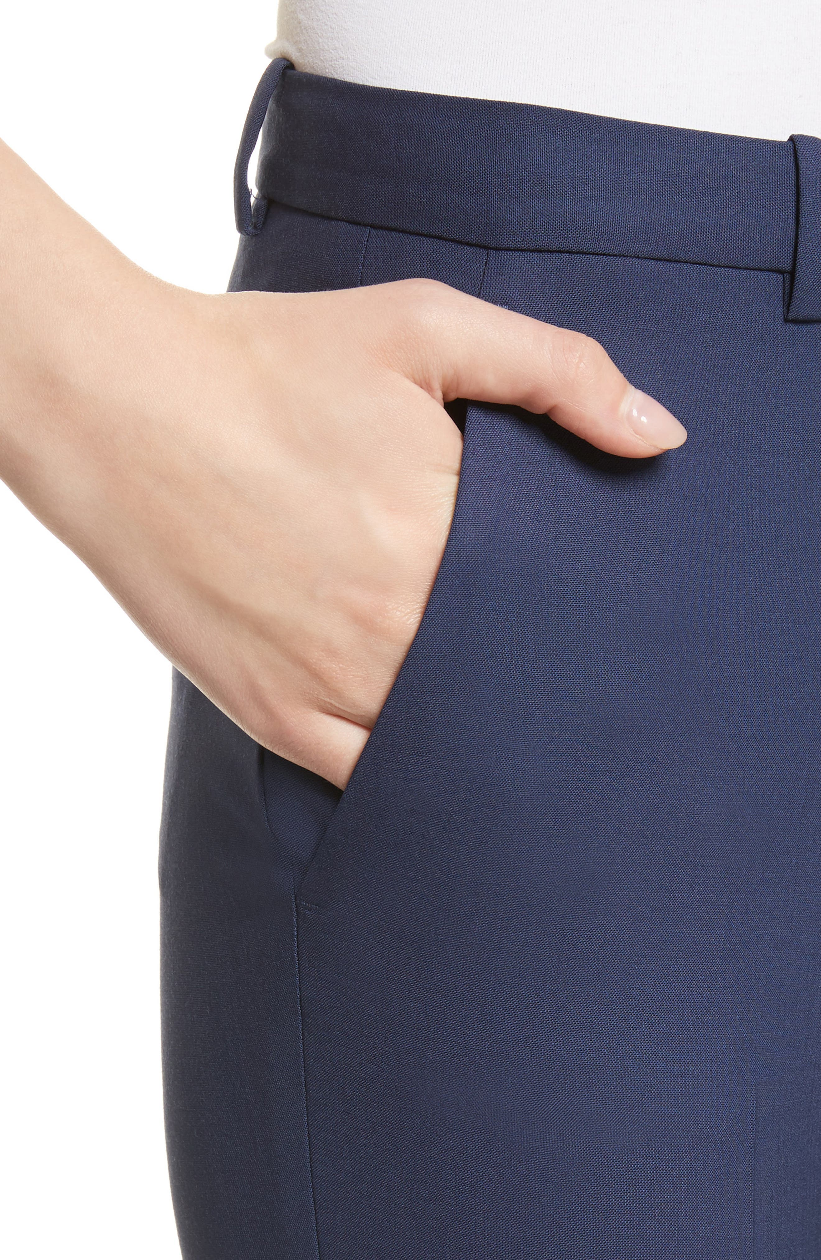 Alternate Image 5  - Theory Demetria 2 Flare Leg Good Wool Suit Pants