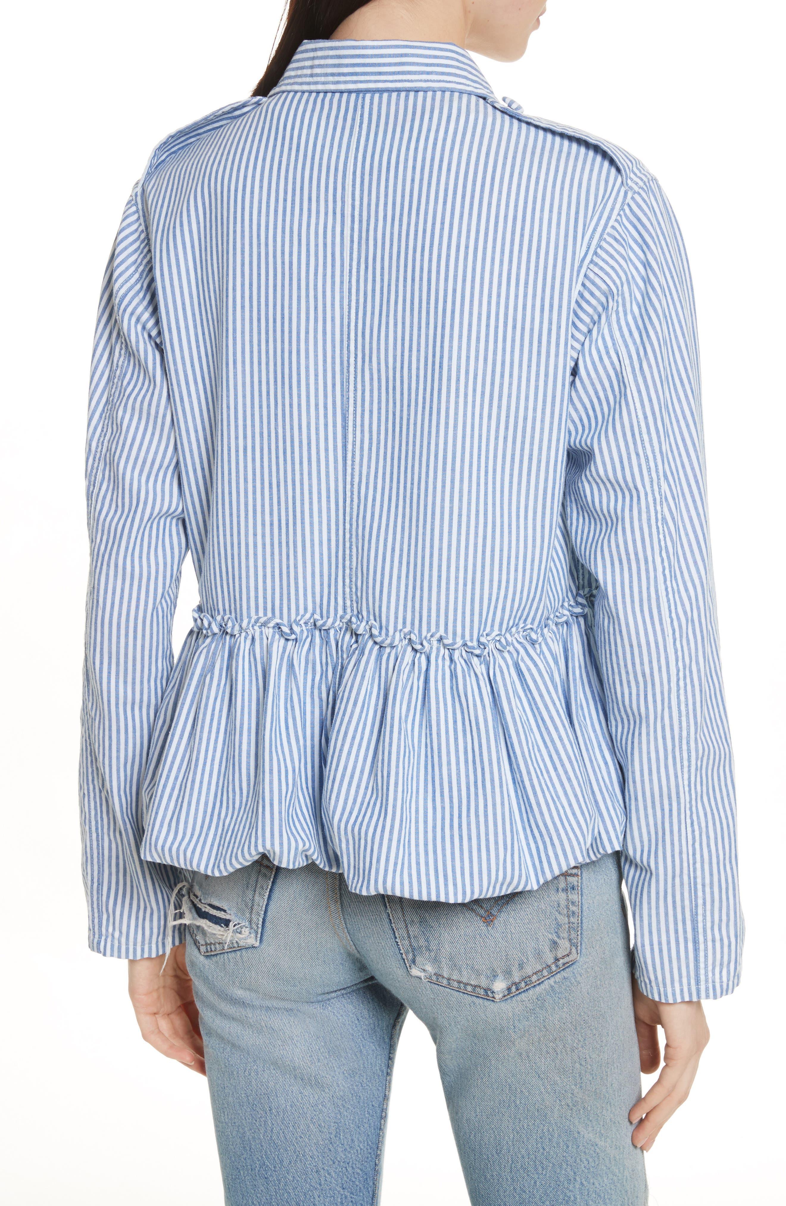 Alternate Image 2  - Harvey Faircloth Stripe Bubble Hem Jacket