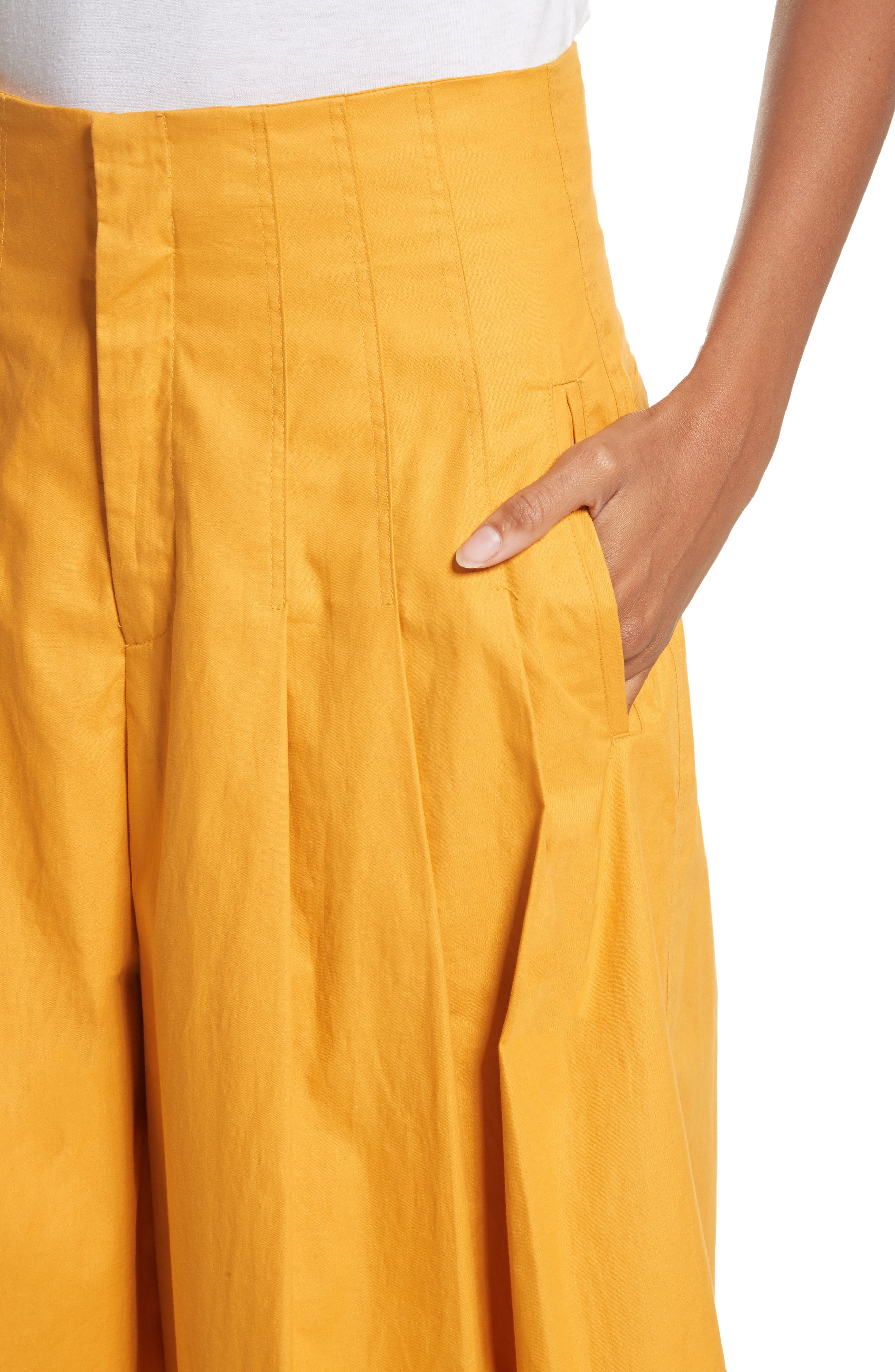 Corset Waist Culottes,                             Alternate thumbnail 6, color,                             Tangerine