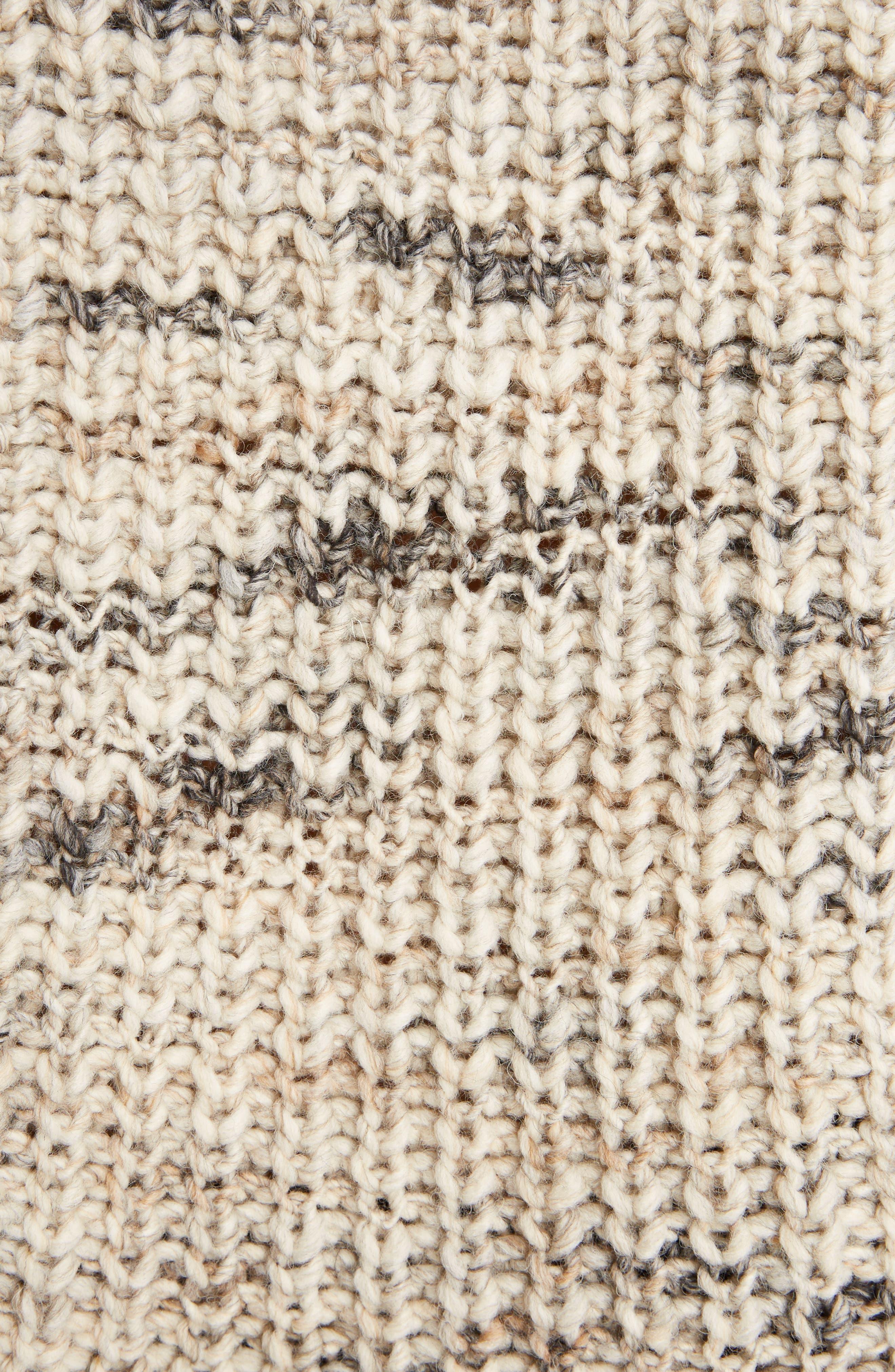 Zora Multi Sweater,                             Alternate thumbnail 5, color,                             White Mix