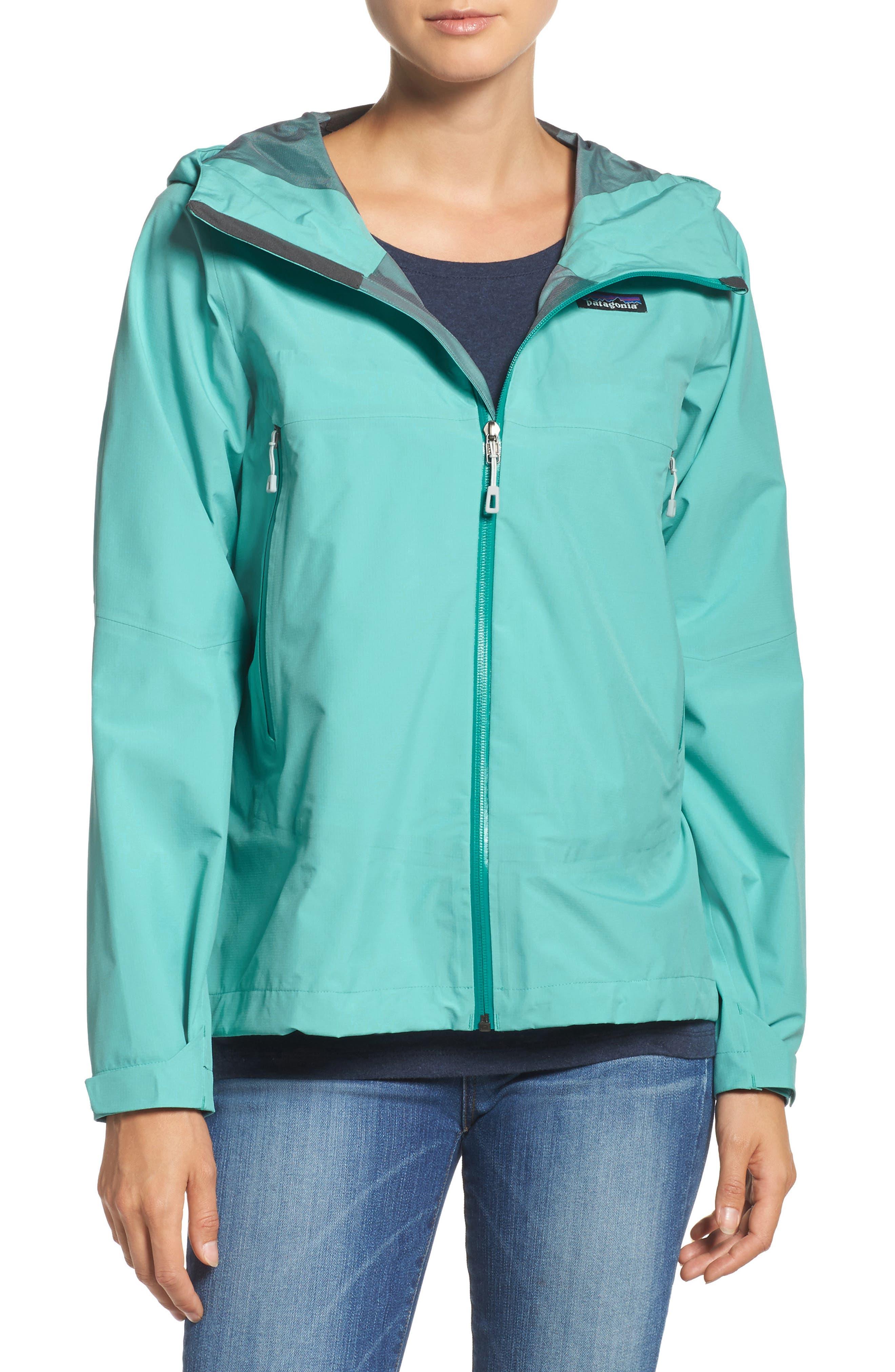 Cloud Ridge Rain Jacket,                         Main,                         color, Strait Blue