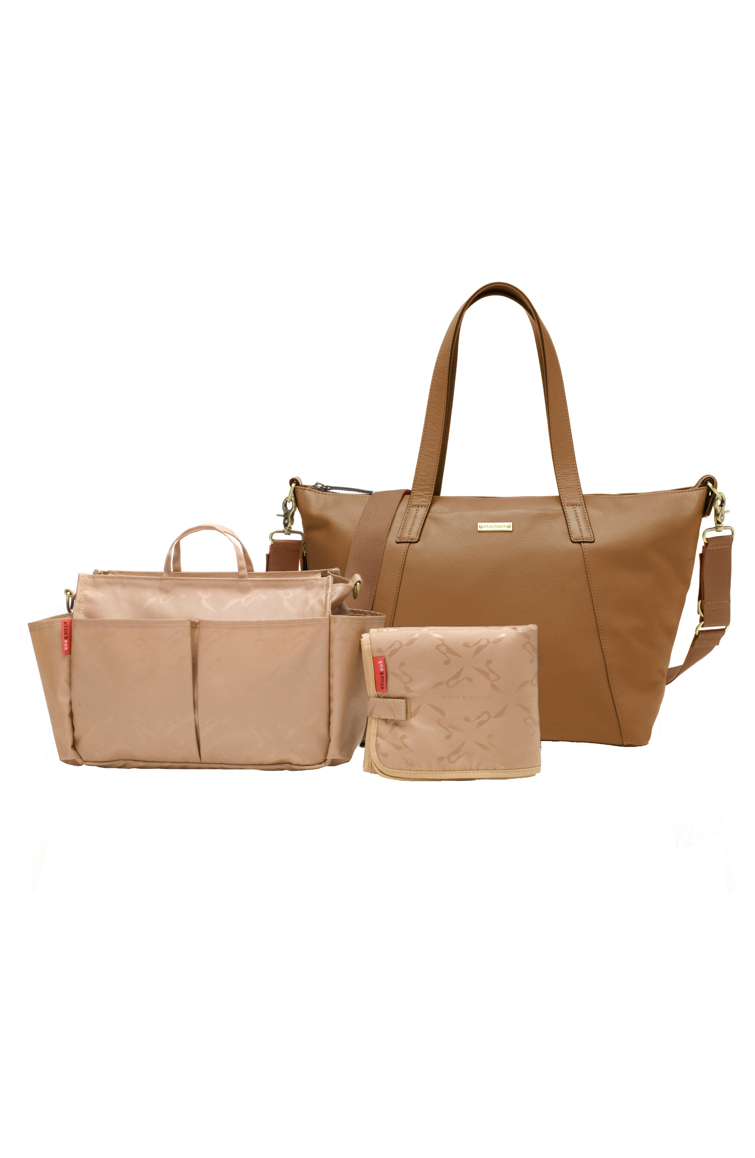 Alternate Image 2  - Storksak NOA Leather Diaper Bag