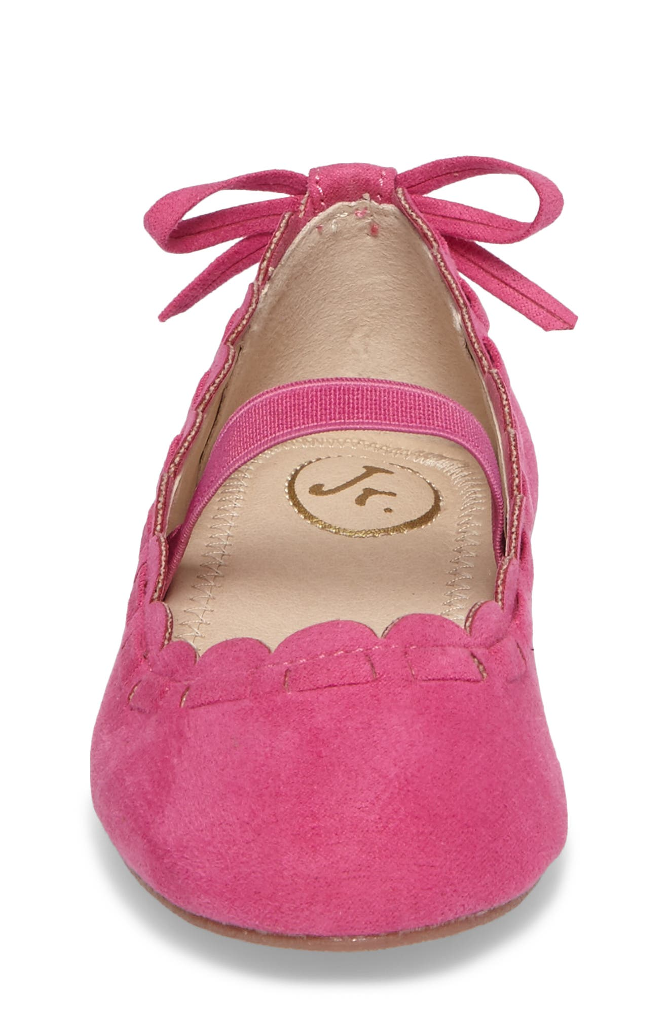 Alternate Image 4  - Jack Rogers Little Miss Lucie Scalloped Mary Jane Flat (Walker & Toddler)