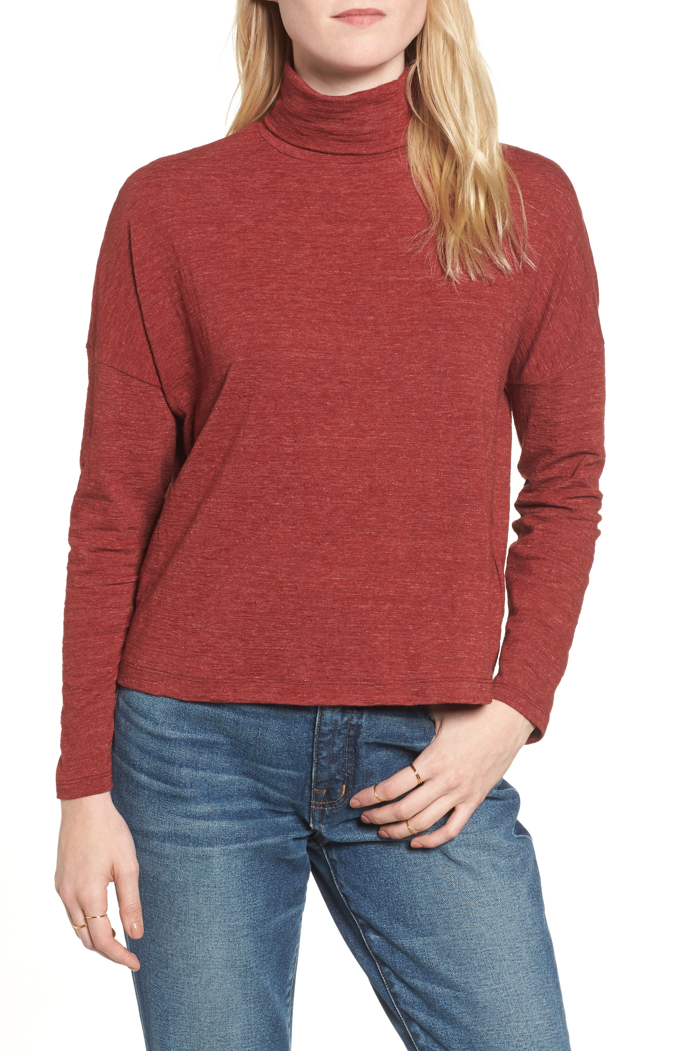Alternate Image 1 Selected - Madewell Boxy Turtleneck Top