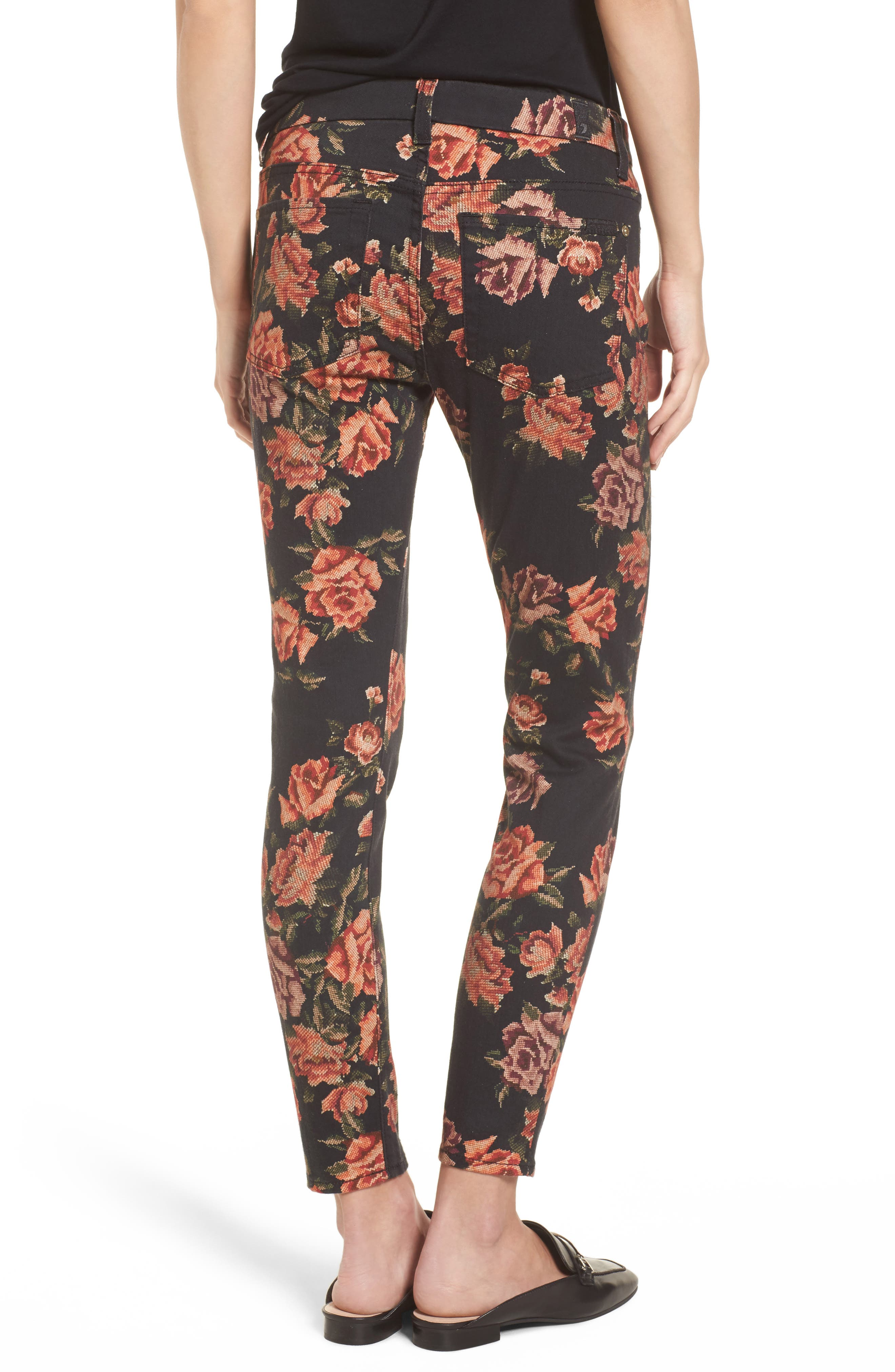The Ankle Skinny Jeans,                             Alternate thumbnail 2, color,                             Needle Point Rose