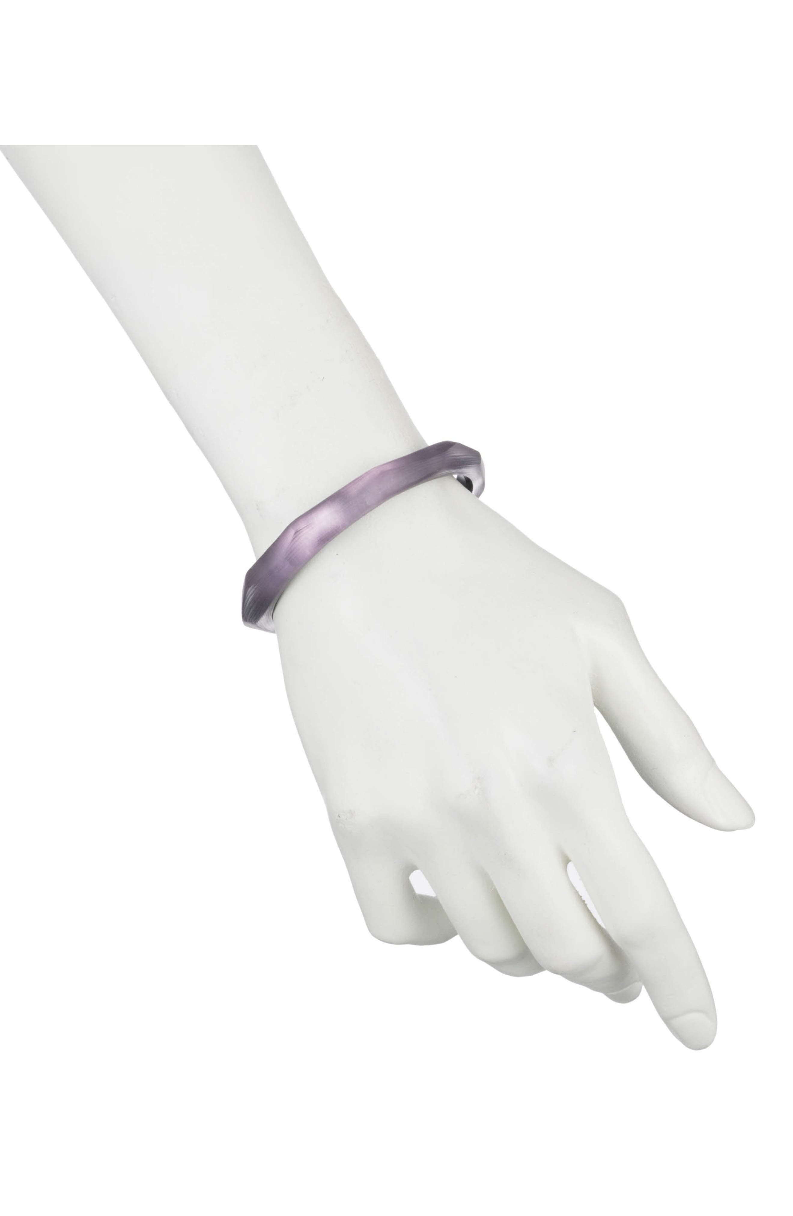 Lucite<sup>®</sup> Faceted Bangle,                             Alternate thumbnail 2, color,                             Deep Lilac
