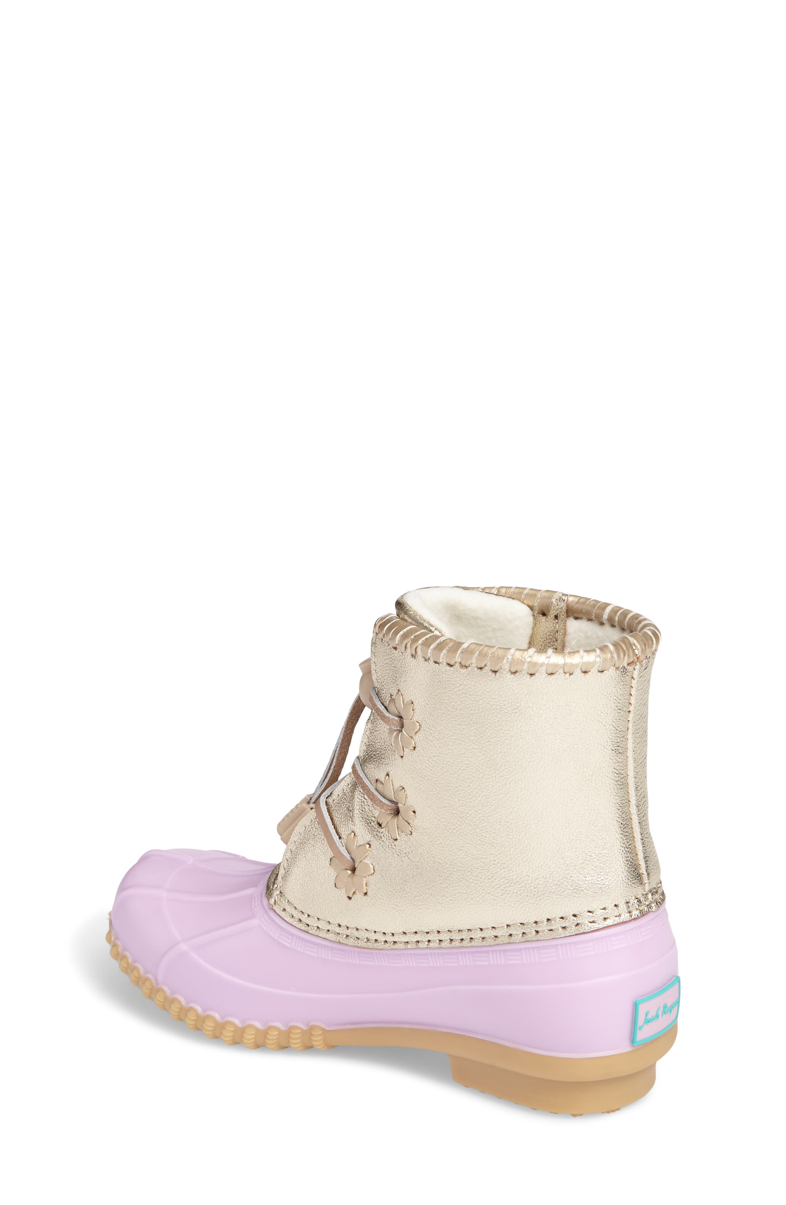 Alternate Image 2  - Jack Rogers Miss Chloe Metallic Rain Boot (Toddler, Little Kid & Big Kid)