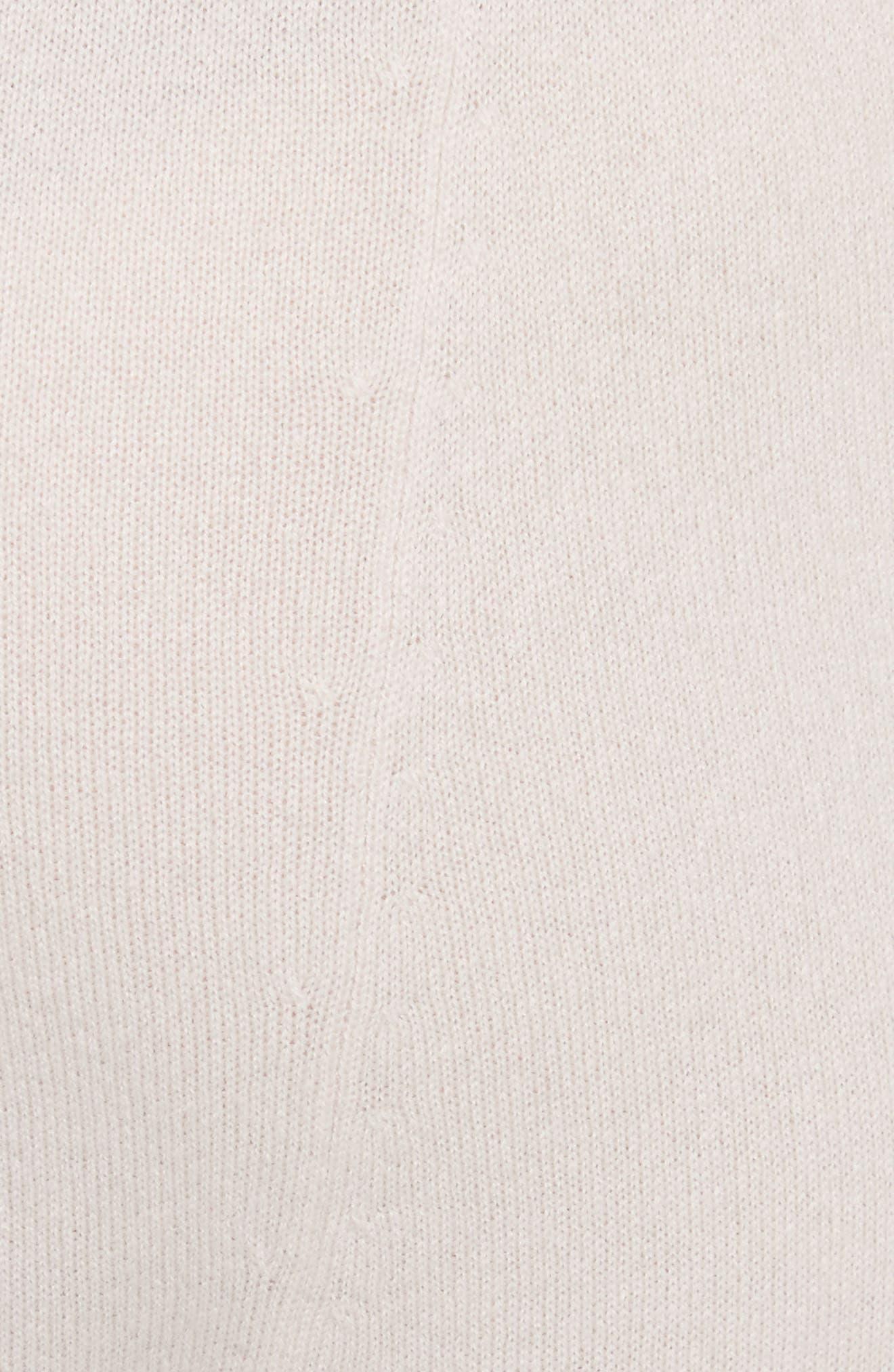 Janina Cashmere Crop Lounge Pants,                             Alternate thumbnail 6, color,                             Blush