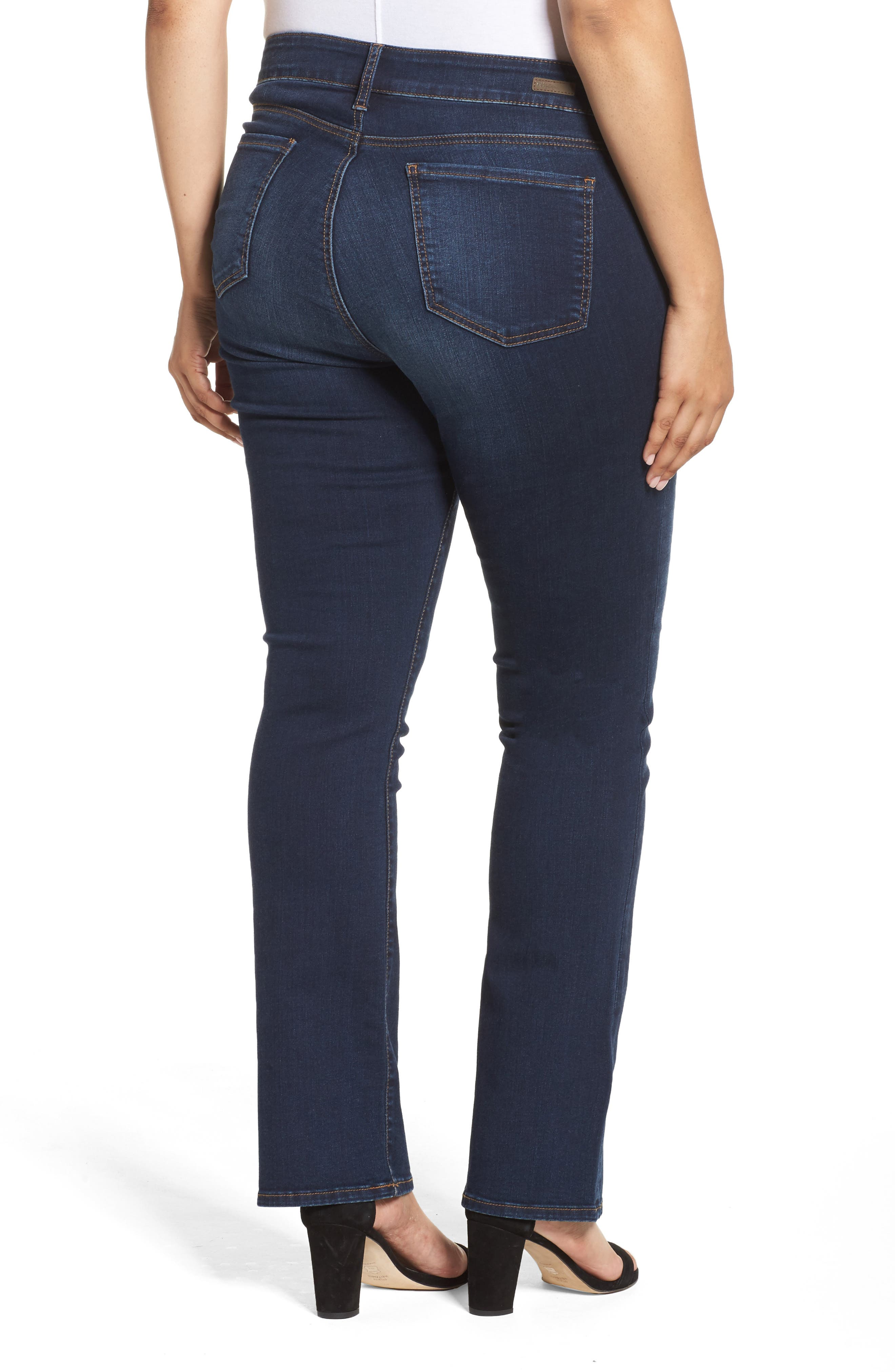 Alternate Image 2  - KUT from the Kloth Natalie High Waist Bootcut Jeans (Closeness) (Plus Size)
