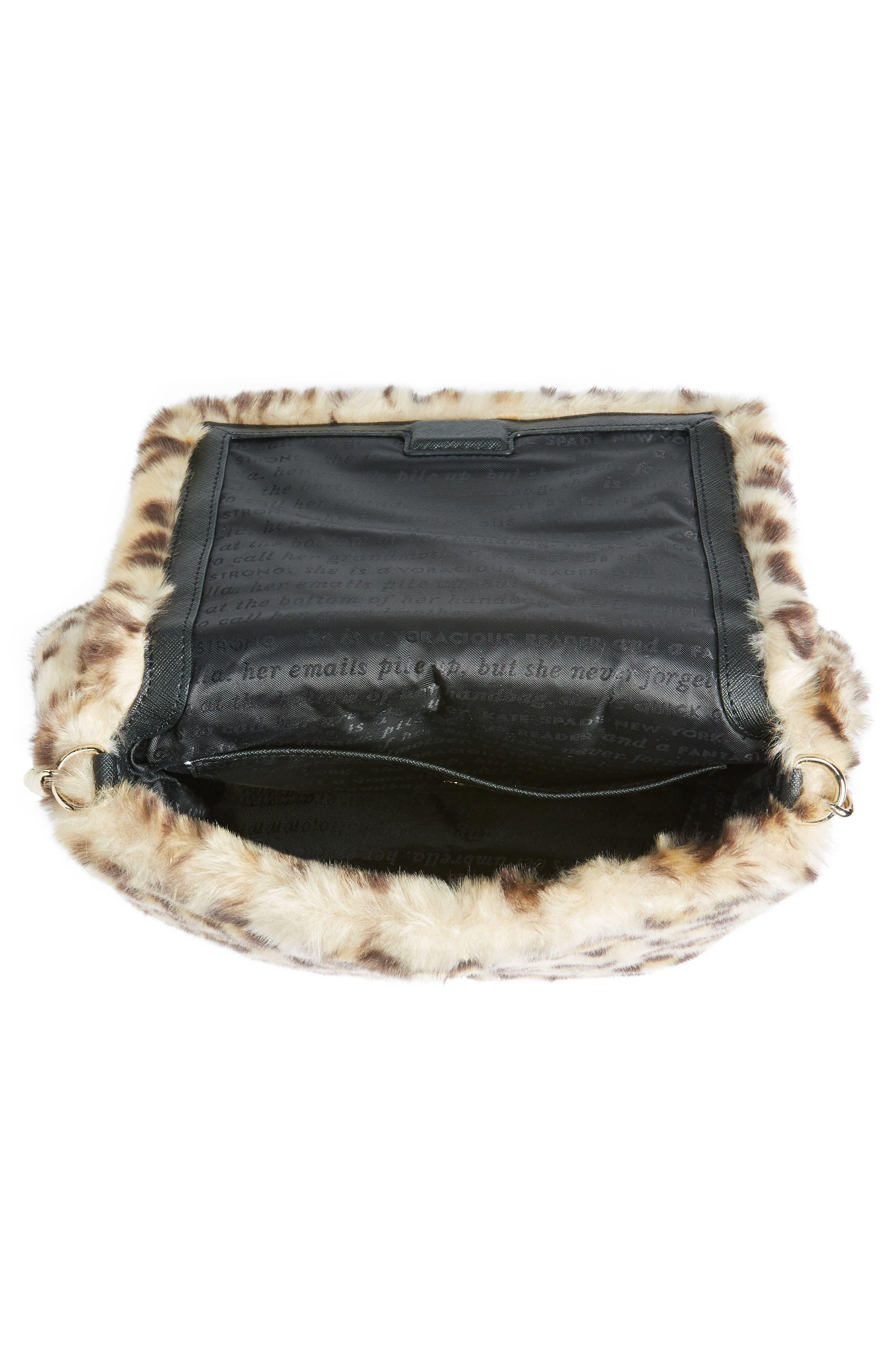 Alternate Image 4  - kate spade new york run wild faux fur shoulder bag/muff