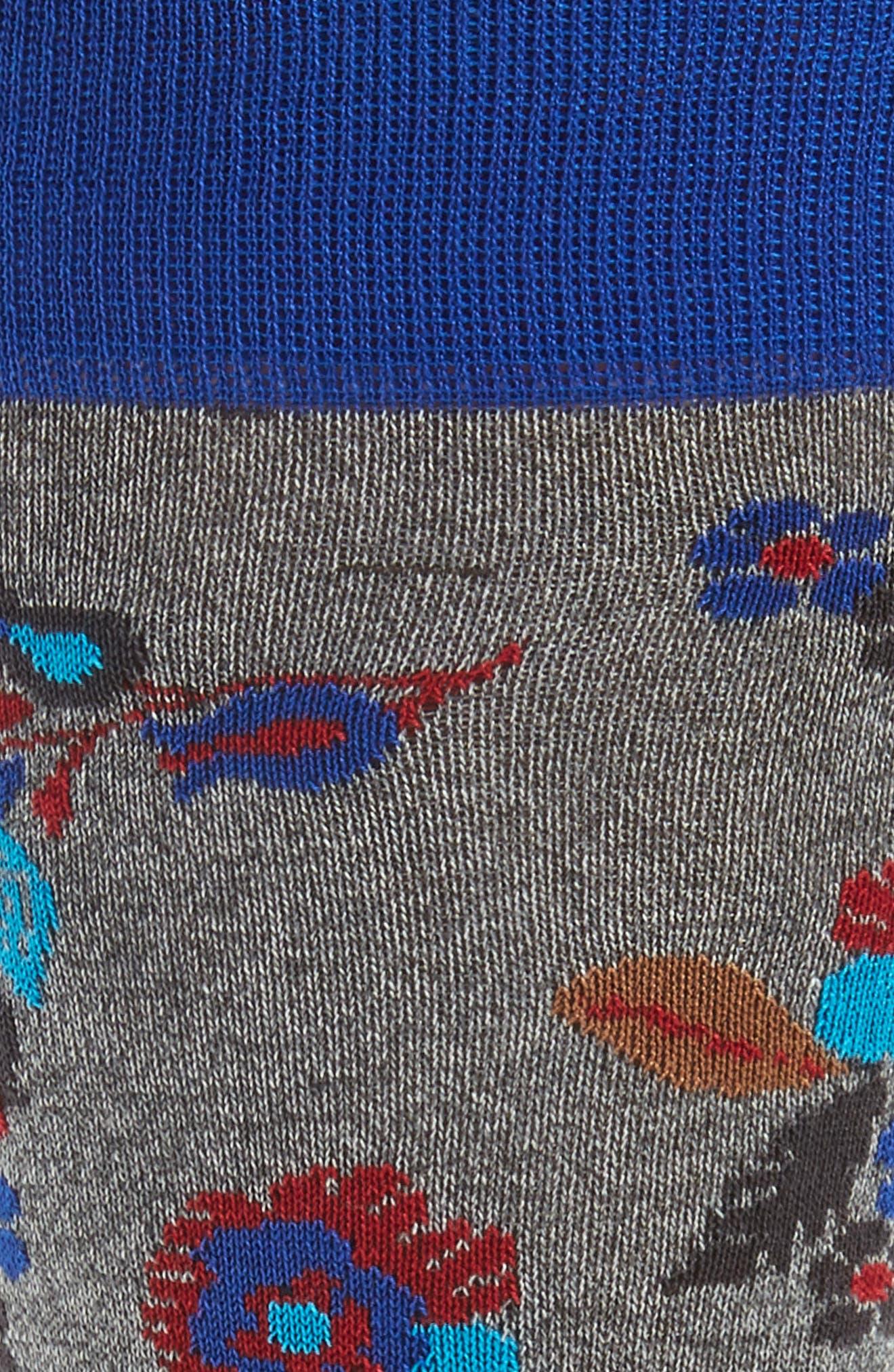 Alternate Image 2  - Bugatchi Floral Socks