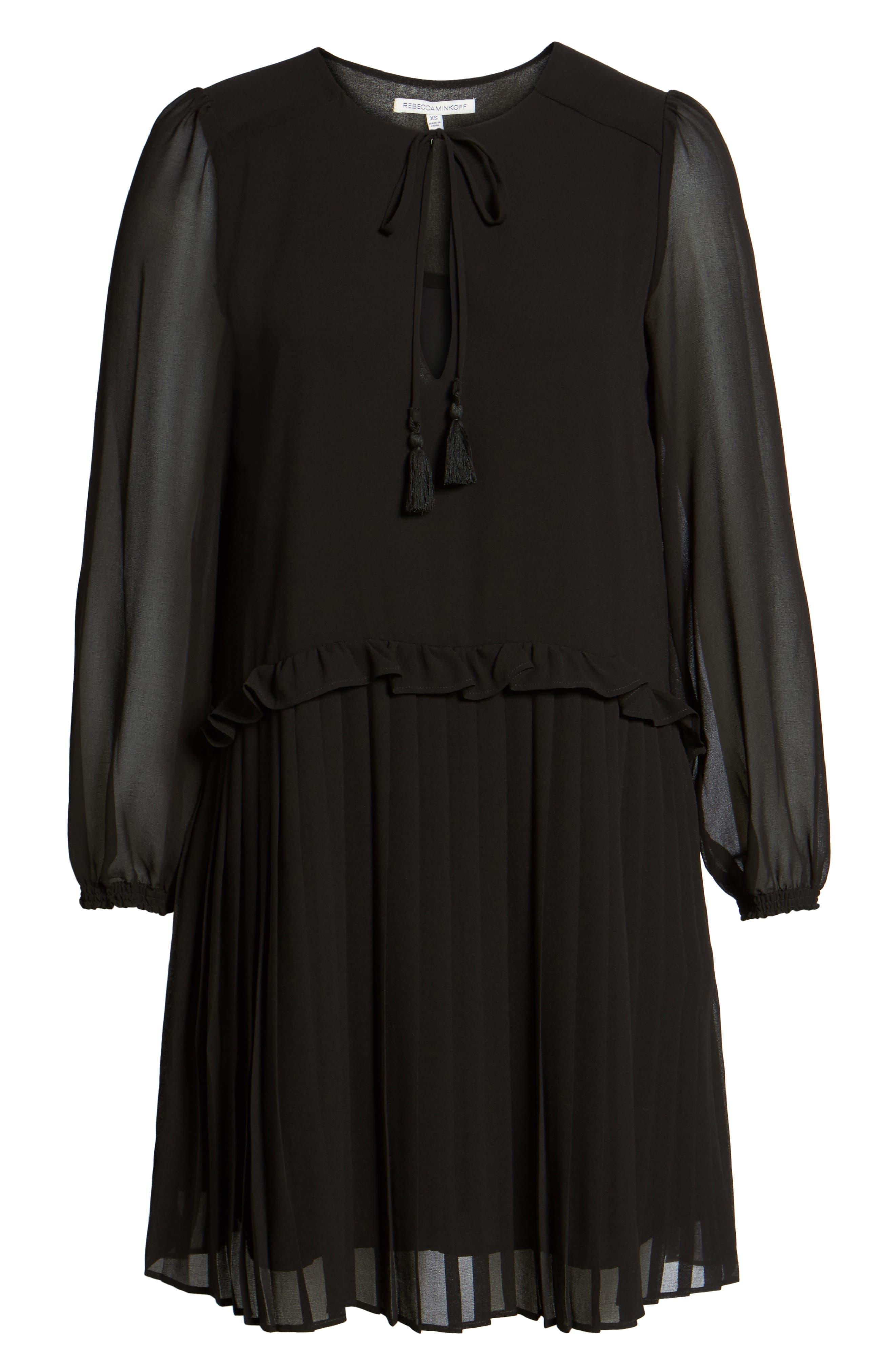 Morrison Shift Dress,                             Alternate thumbnail 6, color,                             Black