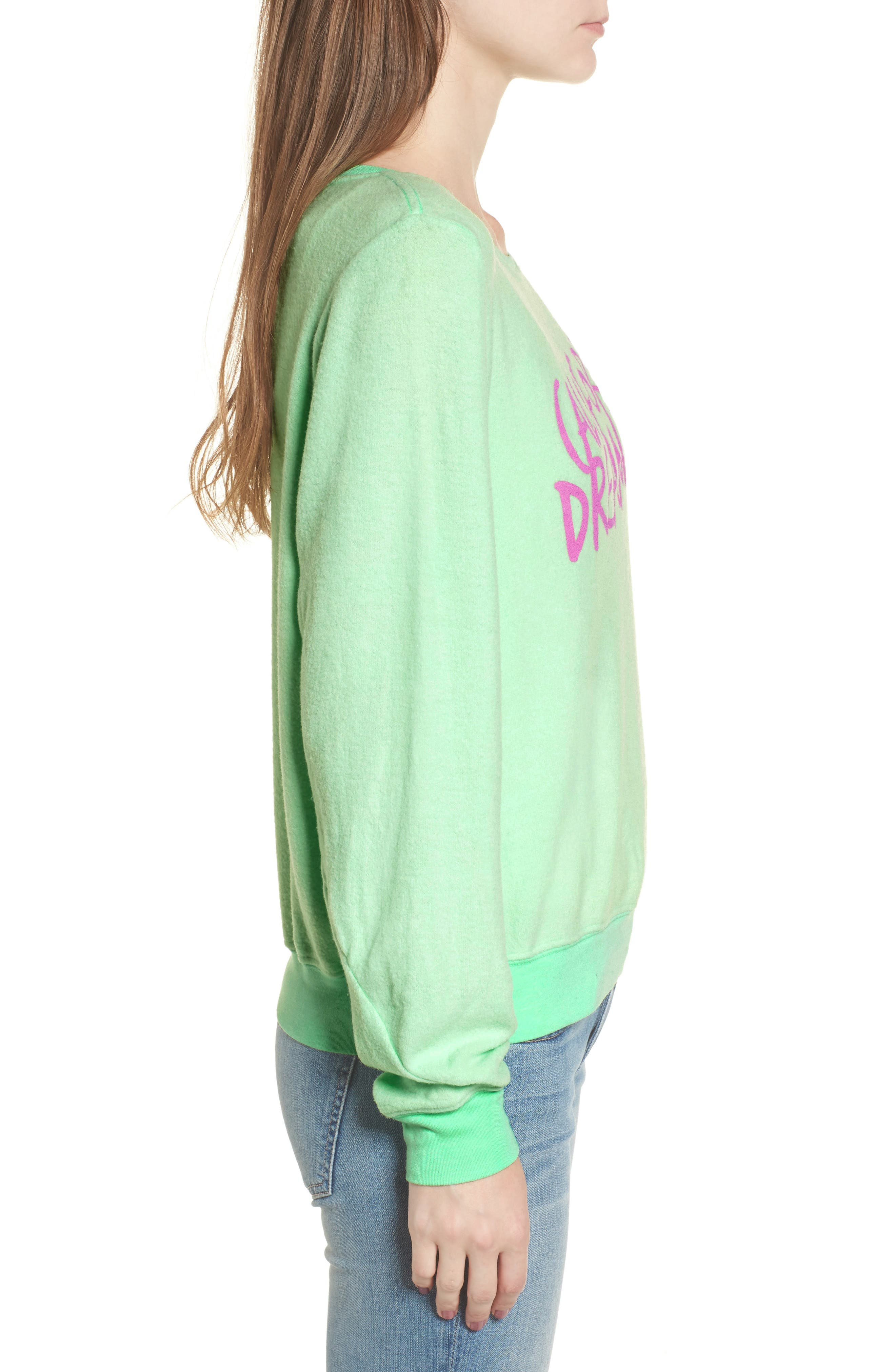California Dreamin Sweatshirt,                             Alternate thumbnail 3, color,                             Mint Julep