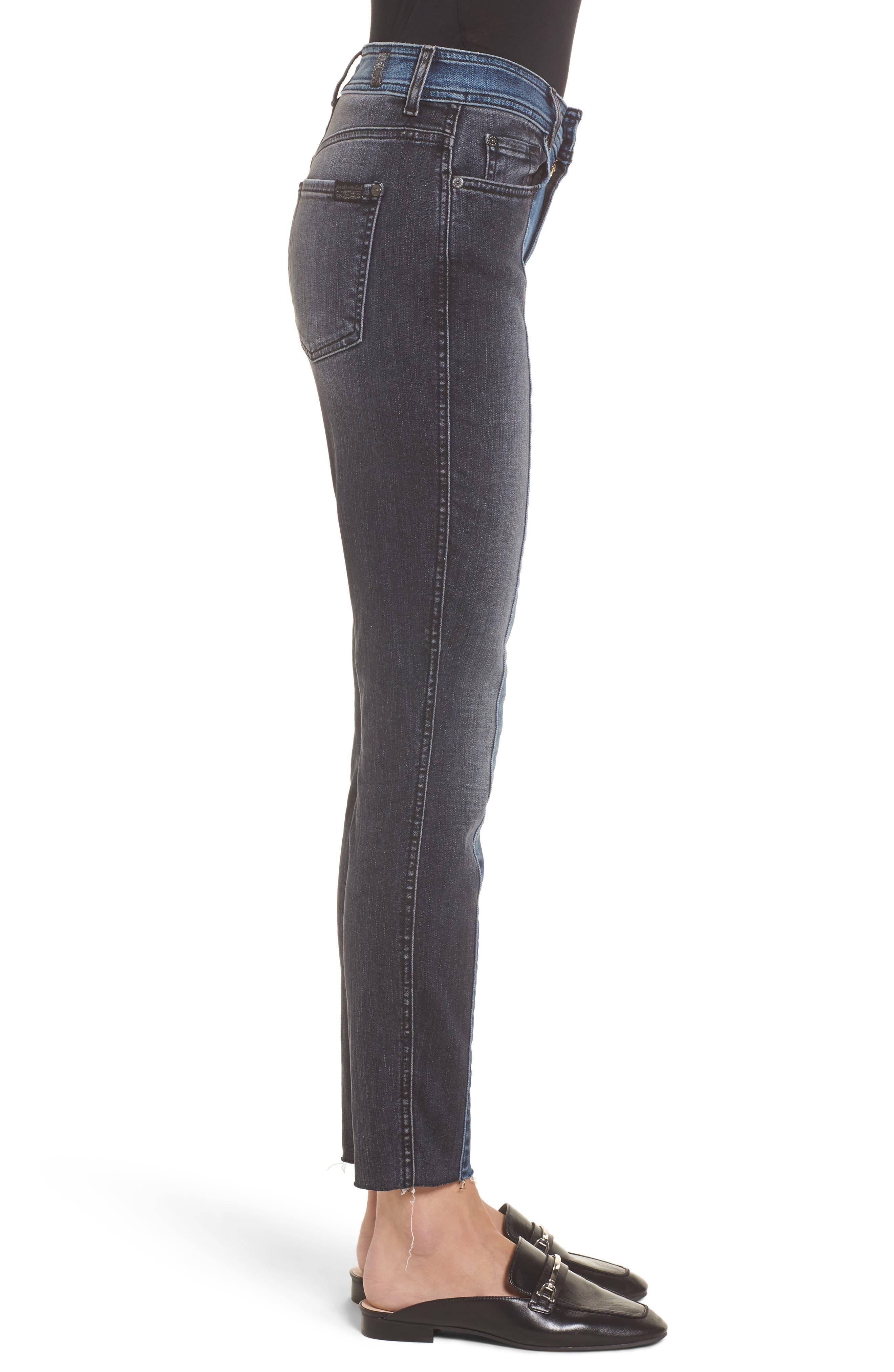 The Ankle Skinny Jeans,                             Alternate thumbnail 3, color,                             Indigo Sulphur