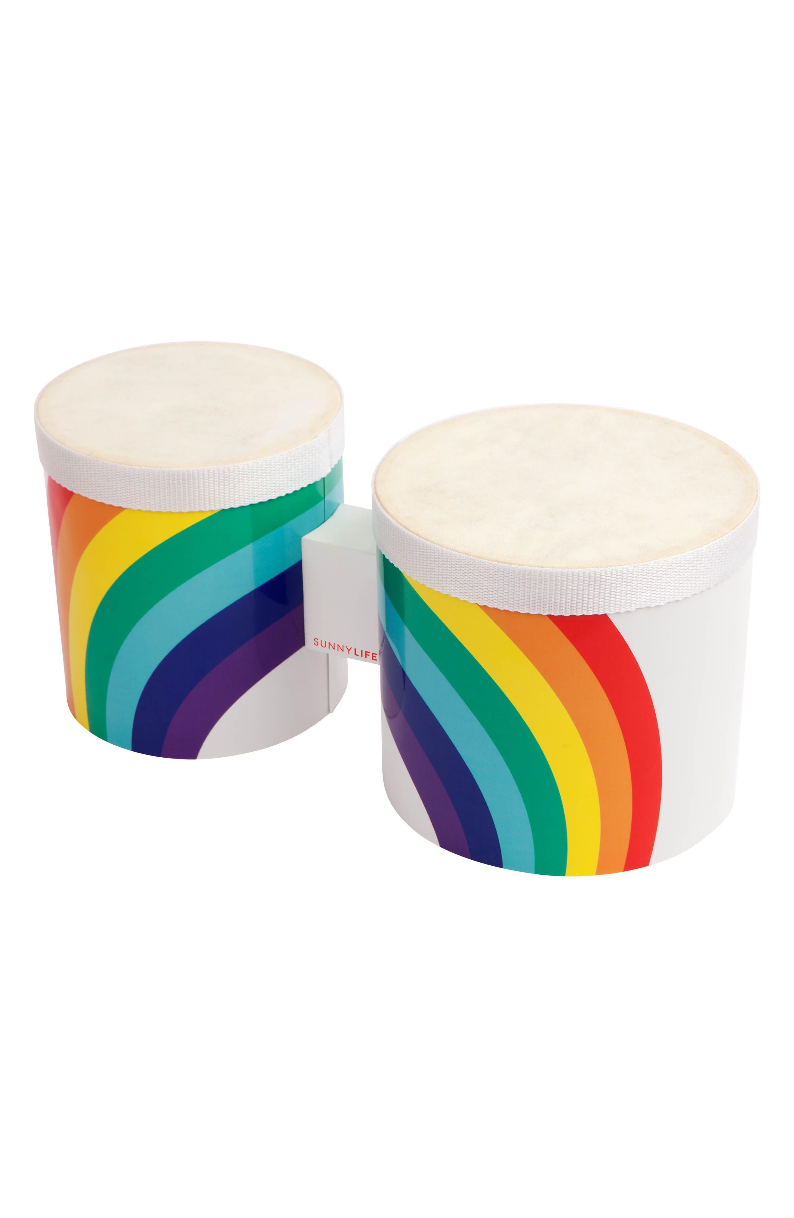 Rainbow Bongo Drums,                             Main thumbnail 1, color,                             Multi