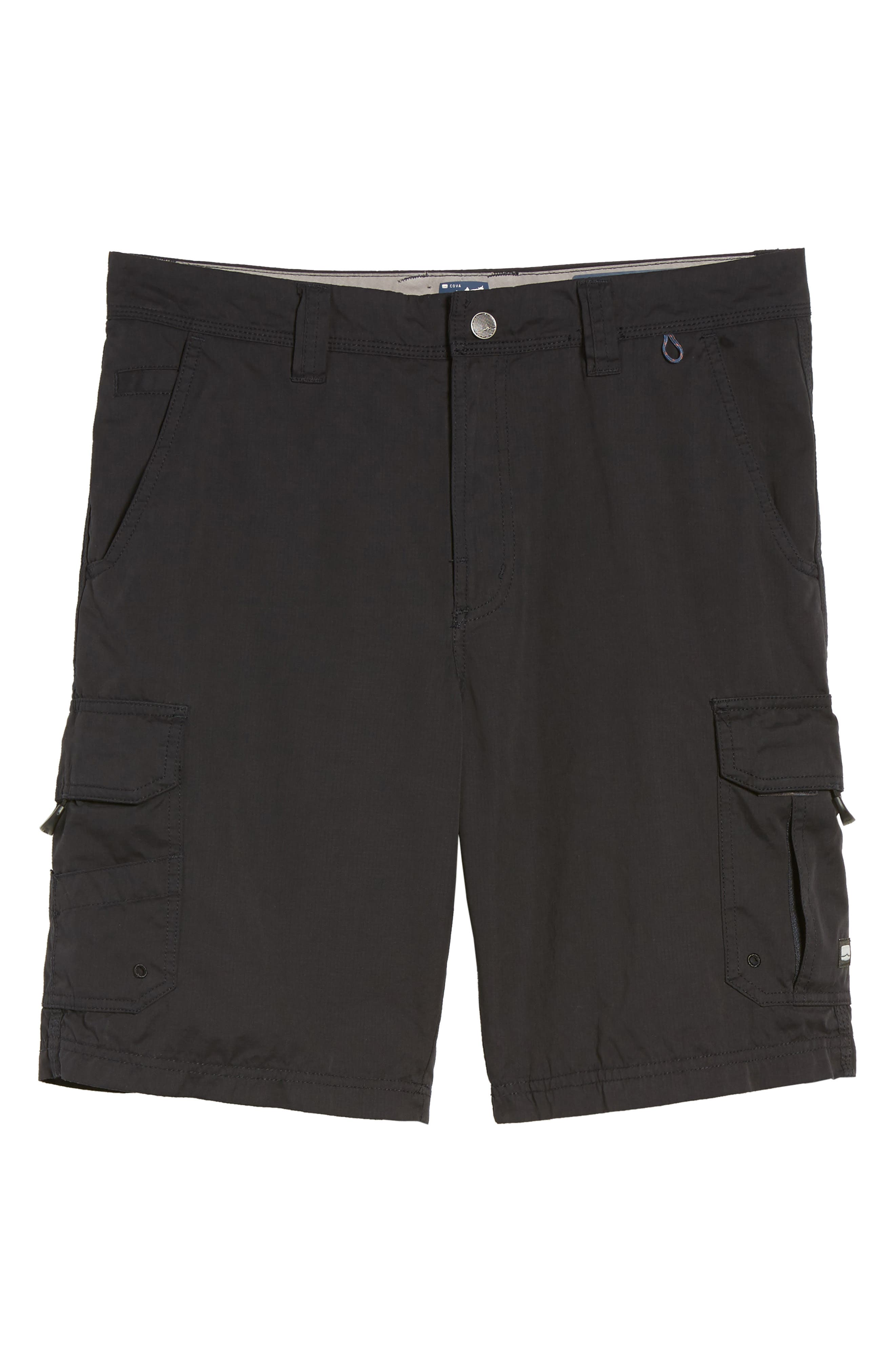 Catch & Release Regular Fit Hybrid Cargo Shorts,                             Alternate thumbnail 6, color,                             Charcoal