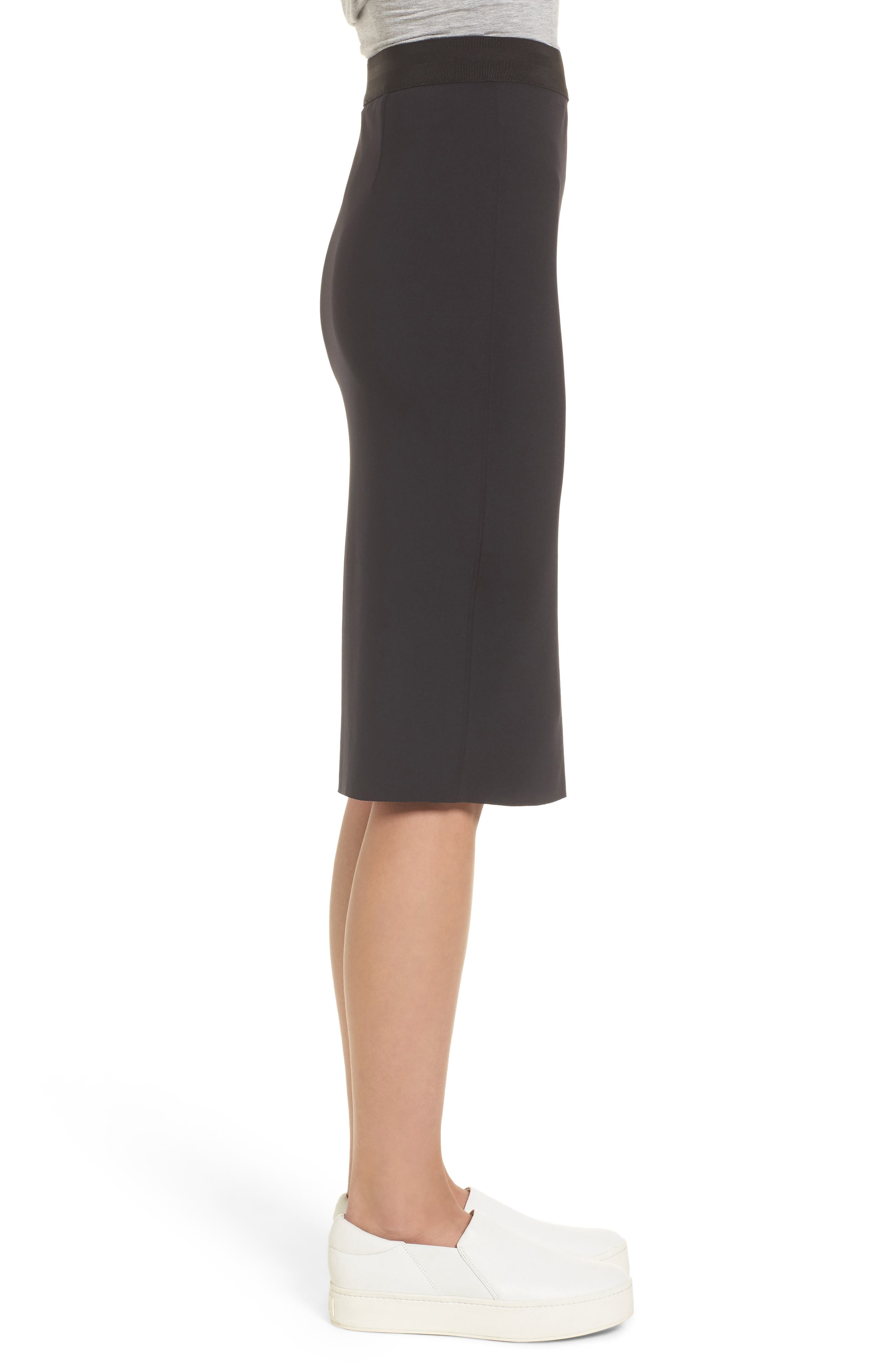 Side Zip Pencil Skirt,                             Alternate thumbnail 3, color,                             Black
