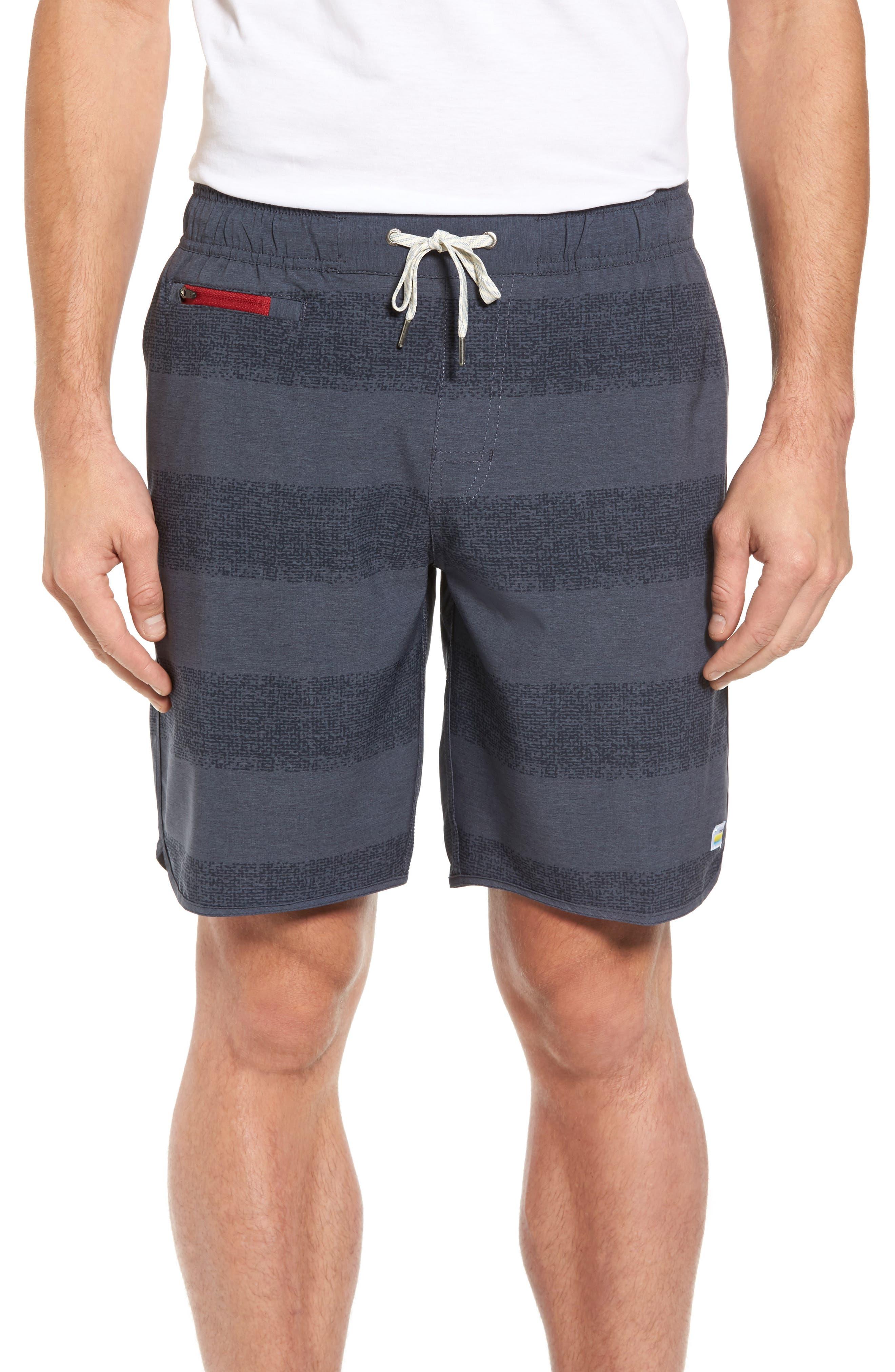Banks Shorts,                         Main,                         color, Navy Texture Stripe
