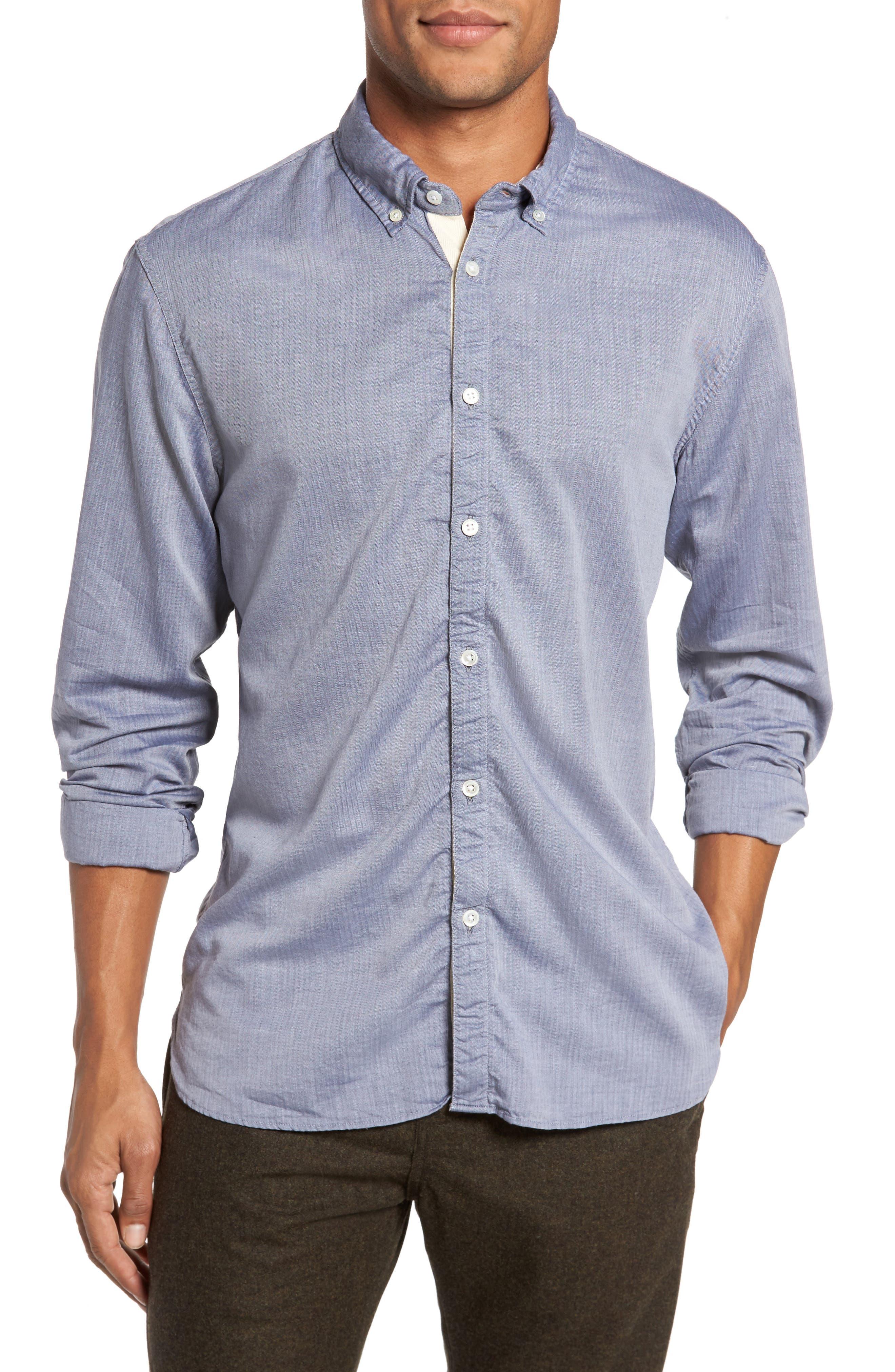 Irvine Sport Shirt,                         Main,                         color, Navy
