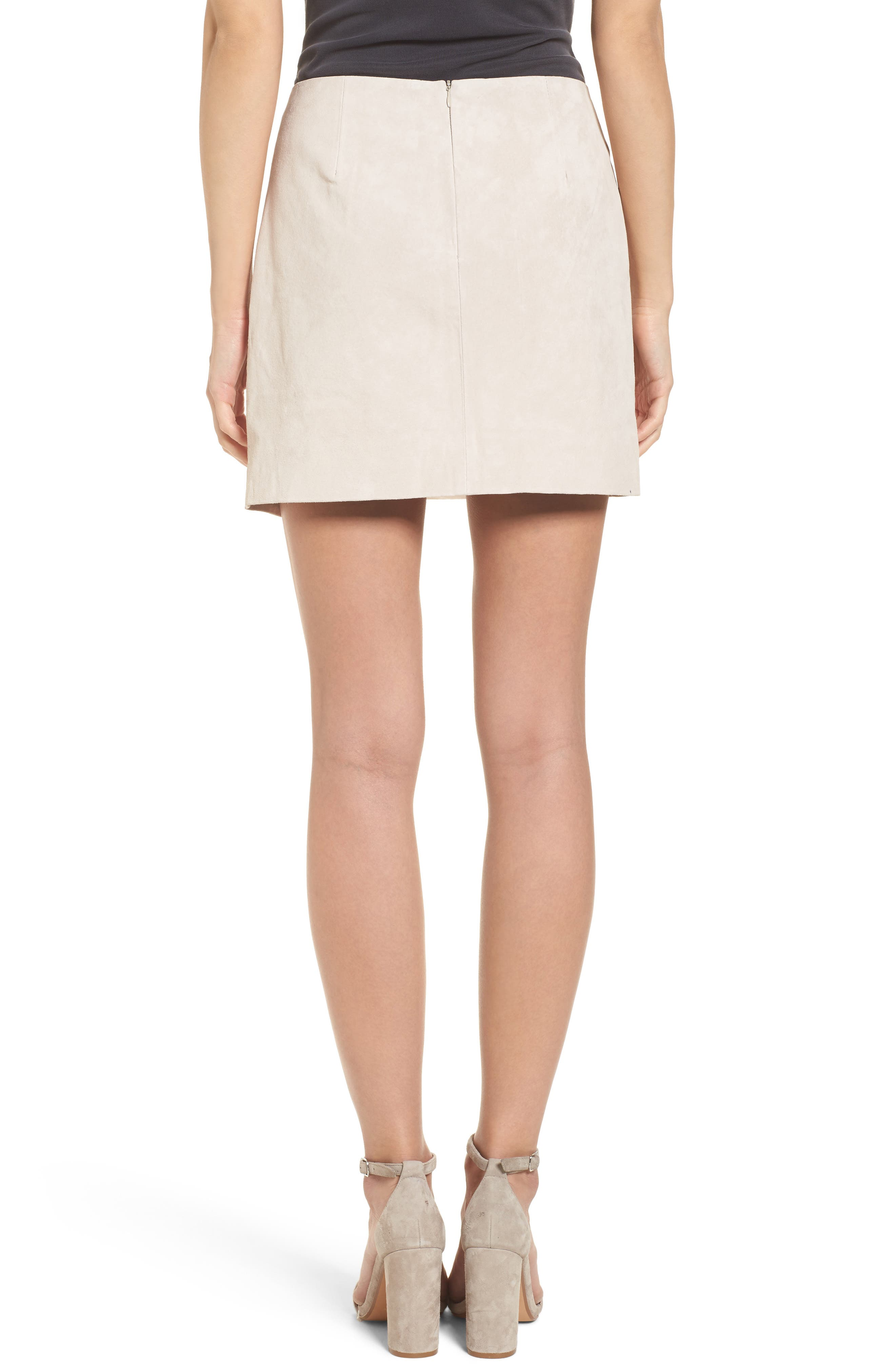 Alternate Image 2  - BLANKNYC Lace-Up Suede Miniskirt