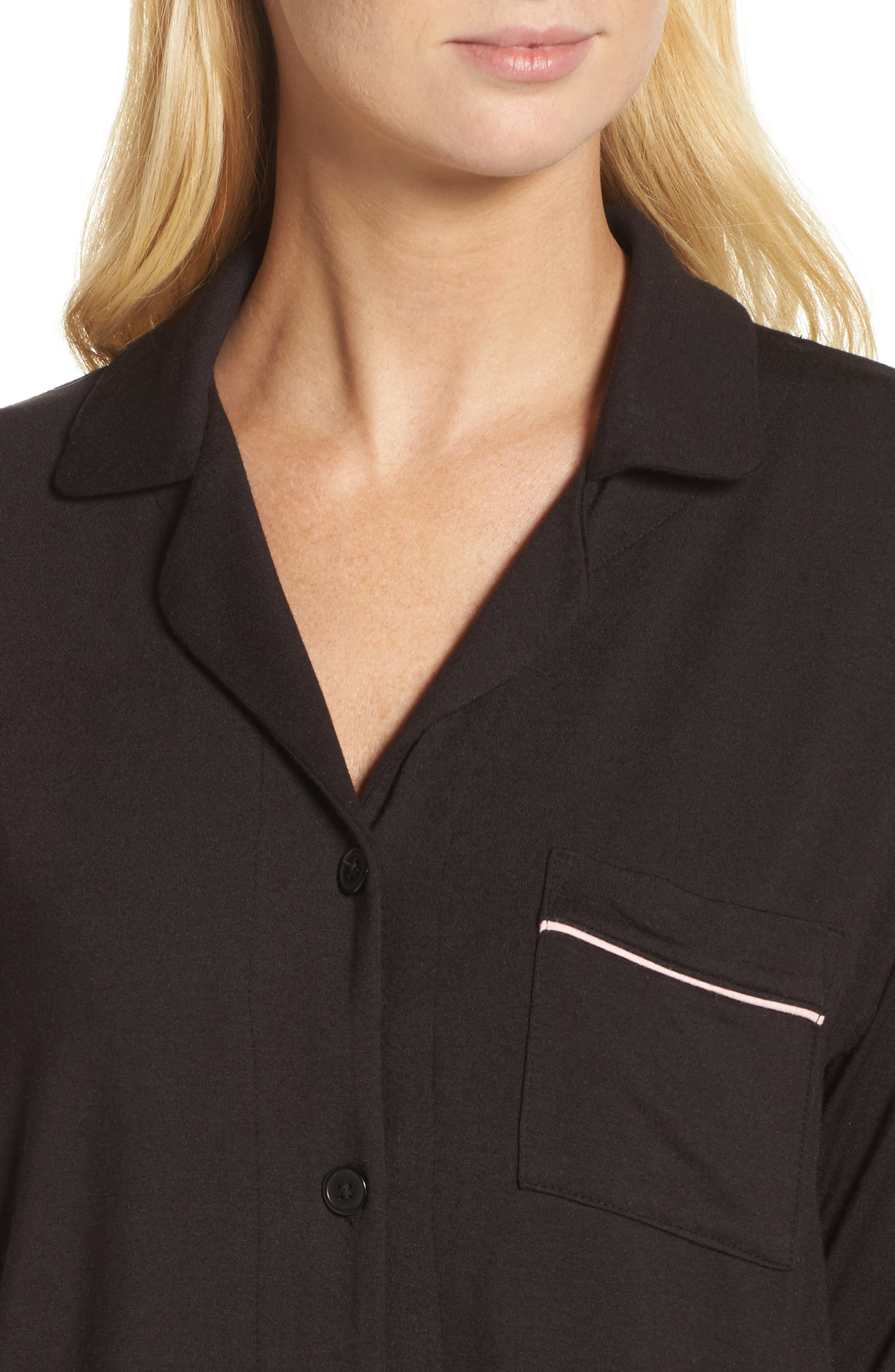 Alternate Image 4  - DKNY Jersey Pajamas