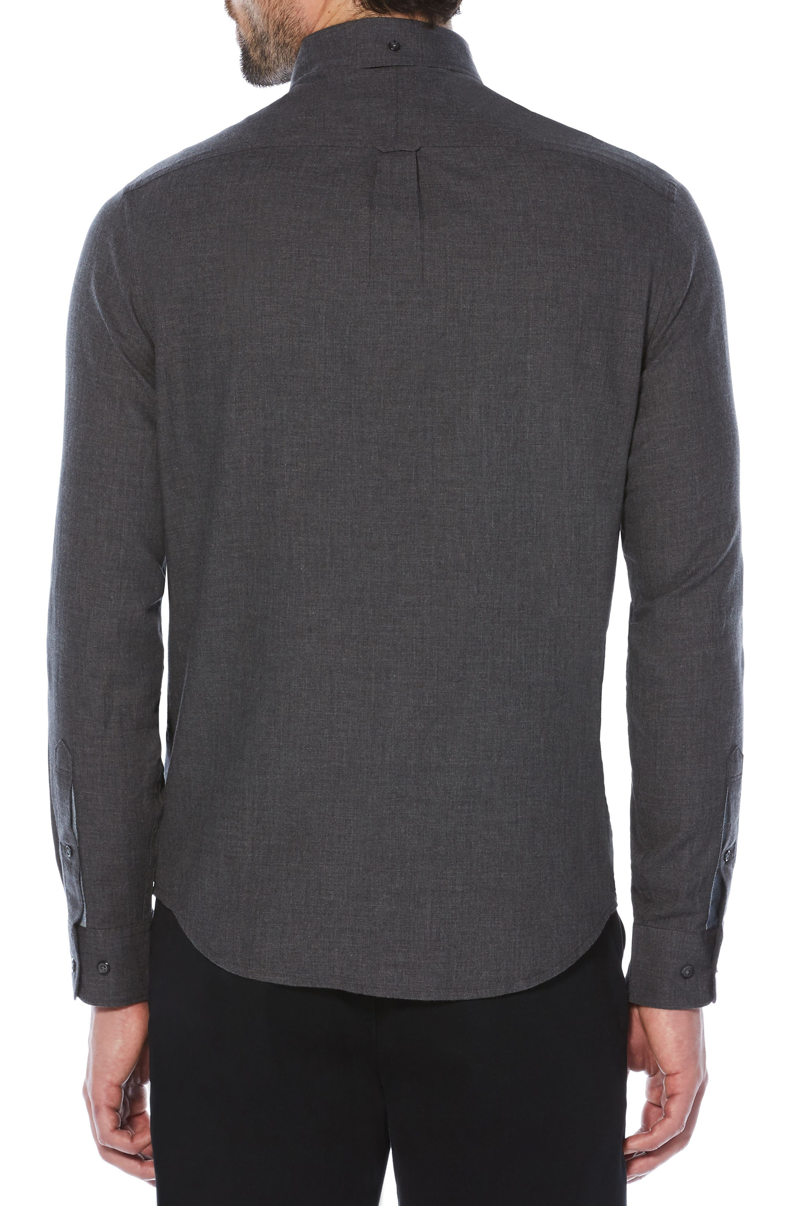 Slim Fit Crosshatch Shirt,                             Alternate thumbnail 2, color,                             Dark Charcoal