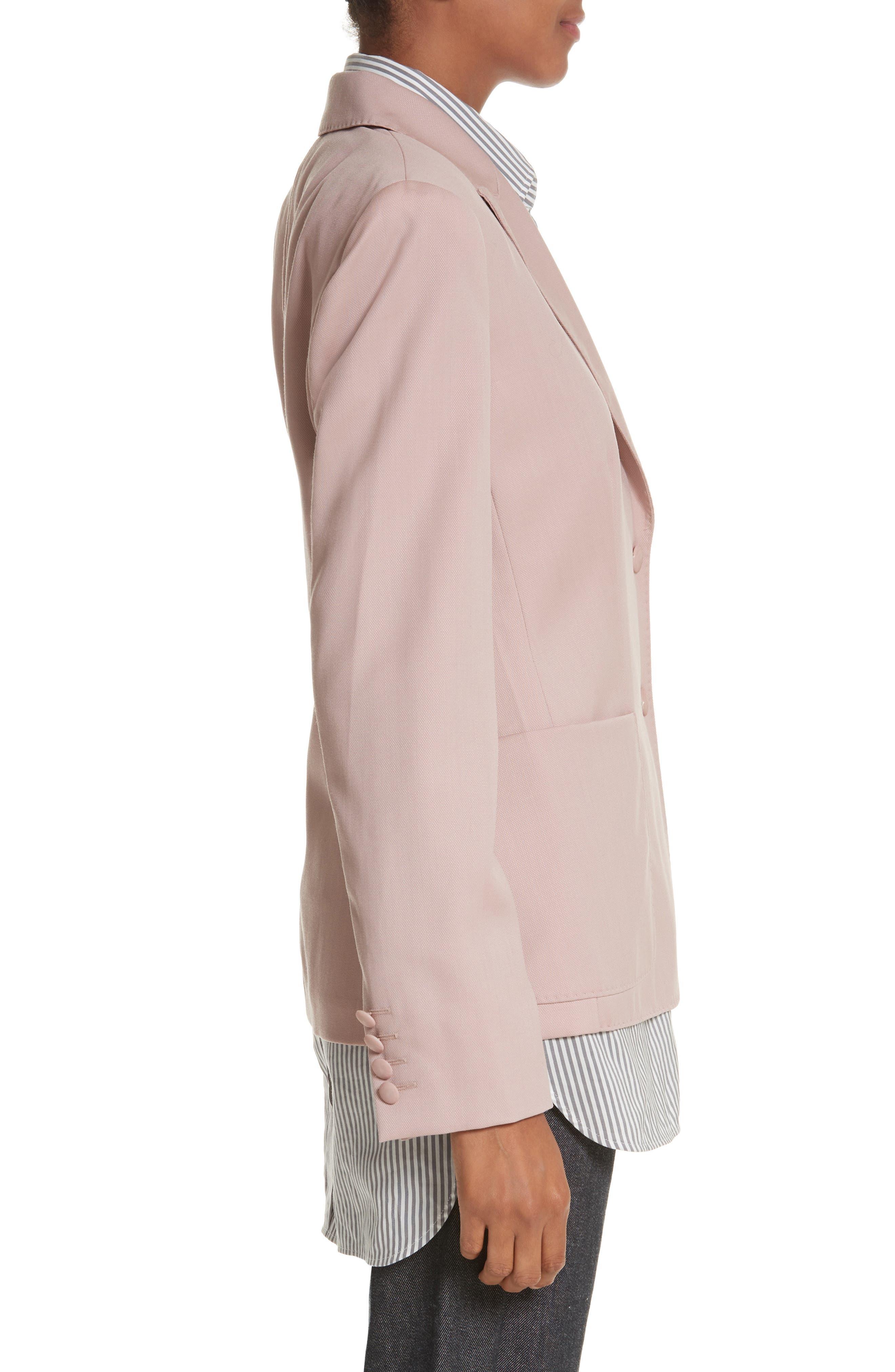 Panaro Wool Jacket,                             Alternate thumbnail 4, color,                             Blush