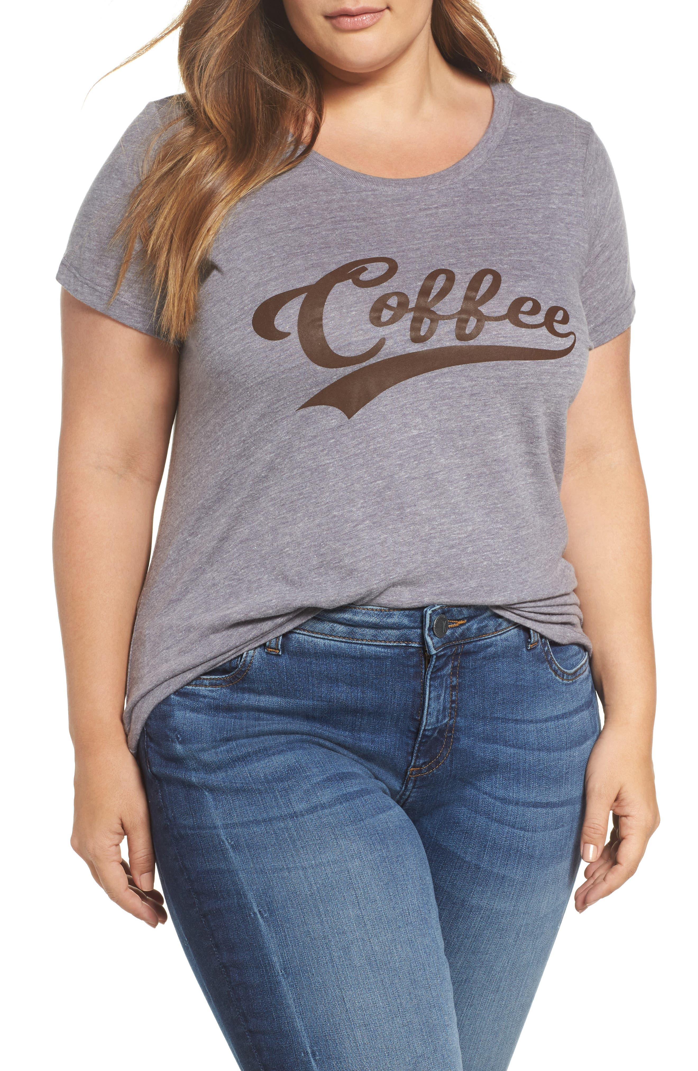 Alternate Image 1 Selected - Sub_Urban Riot Coffee Graphic Tee (Plus Size)