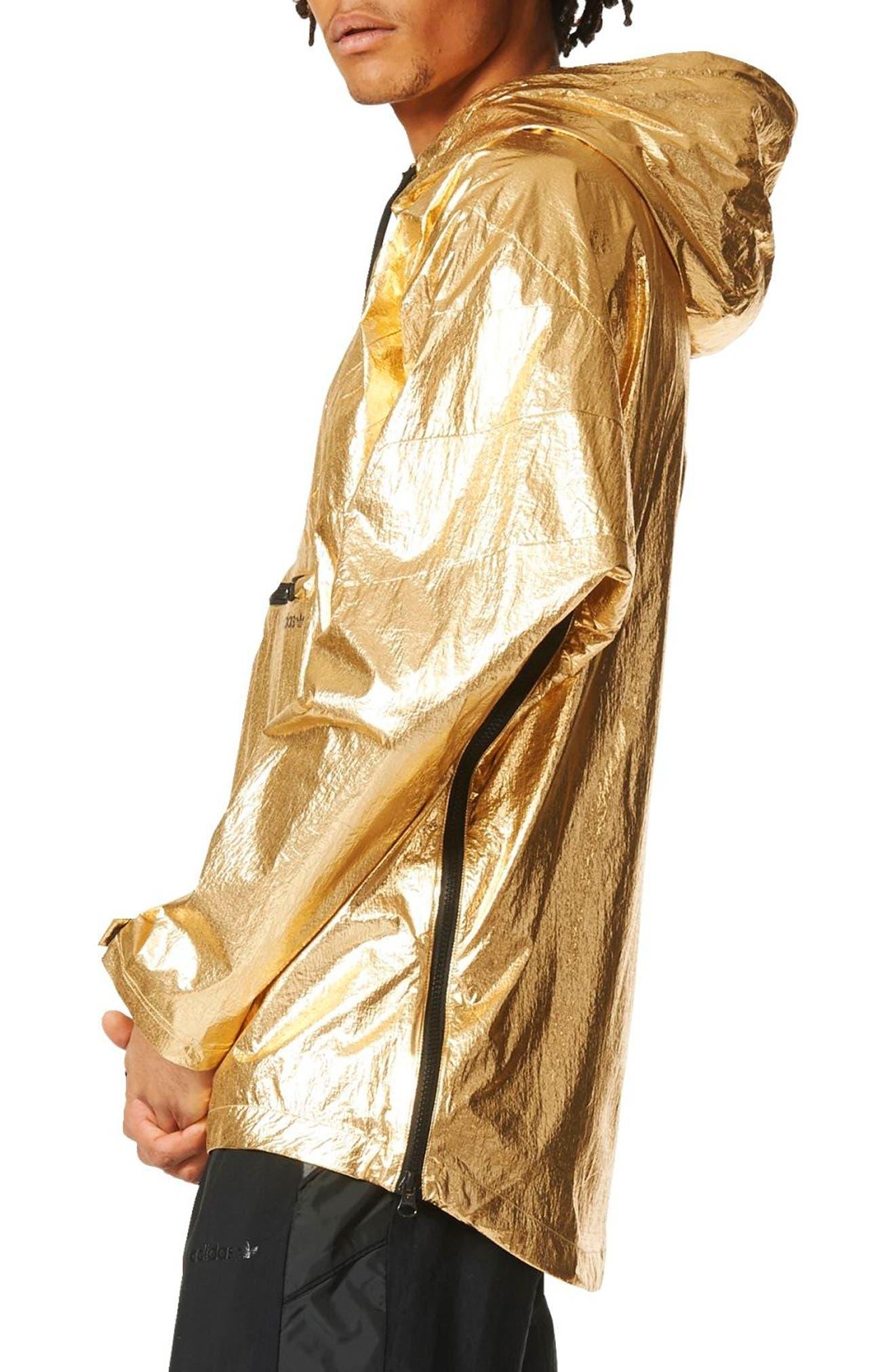 Originals Fontanka Hooded Jacket,                             Alternate thumbnail 3, color,                             Gold Met