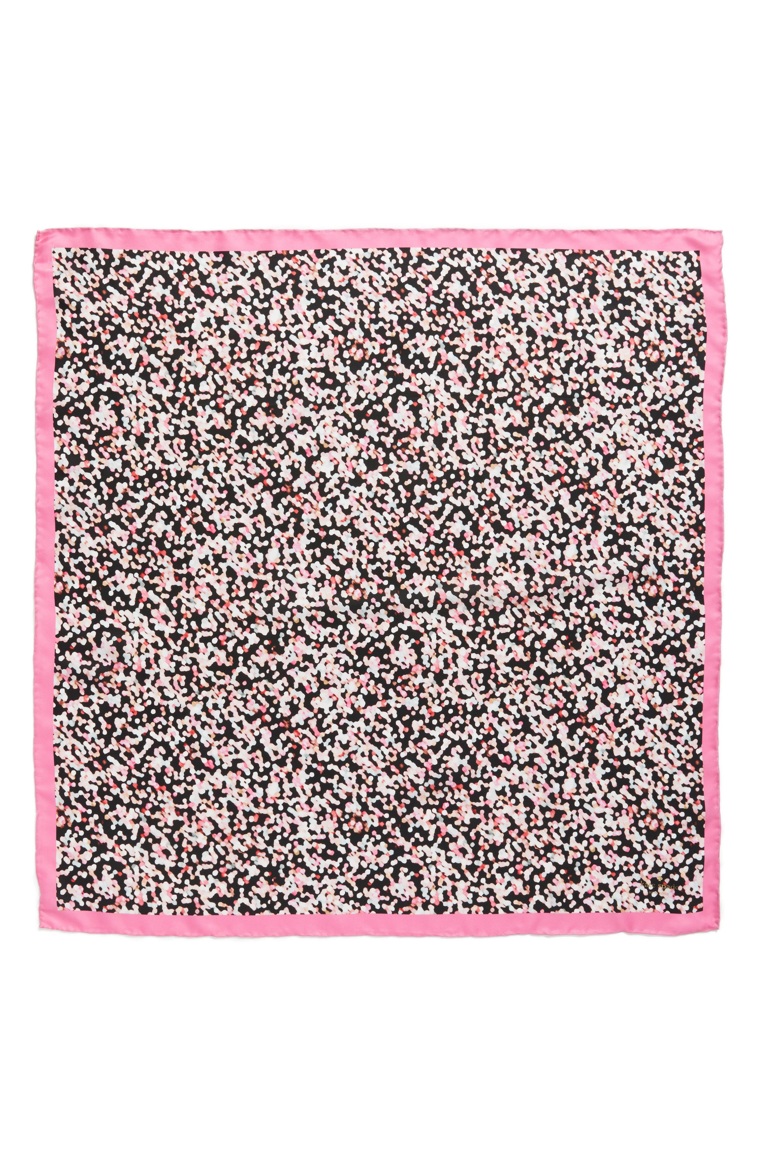 gifting bubbles square silk scarf,                             Alternate thumbnail 2, color,                             Parisian Pink