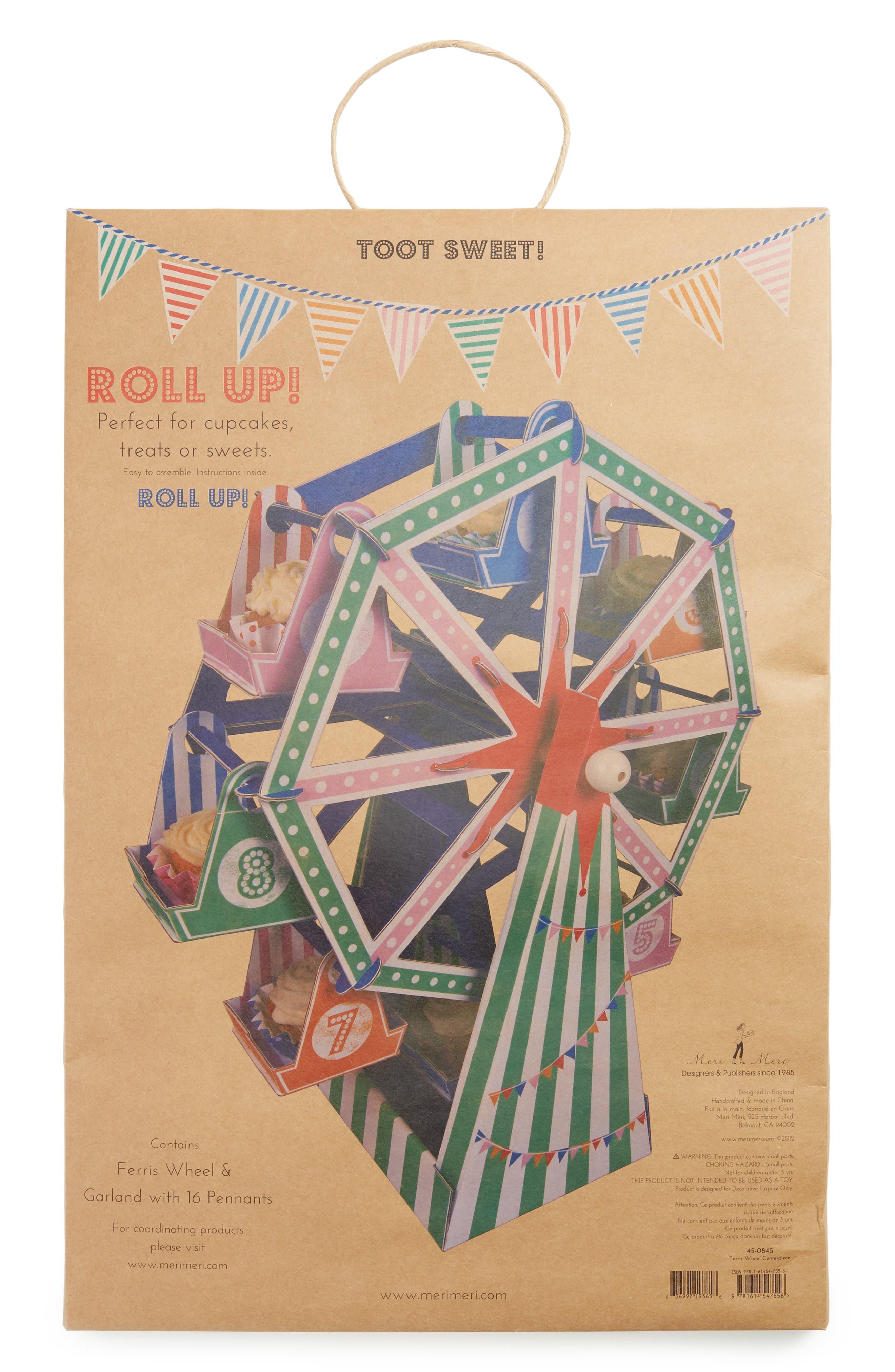 Toot Sweet - Ferris Wheel Cupcake Centerpiece,                             Alternate thumbnail 2, color,                             Blue Multi