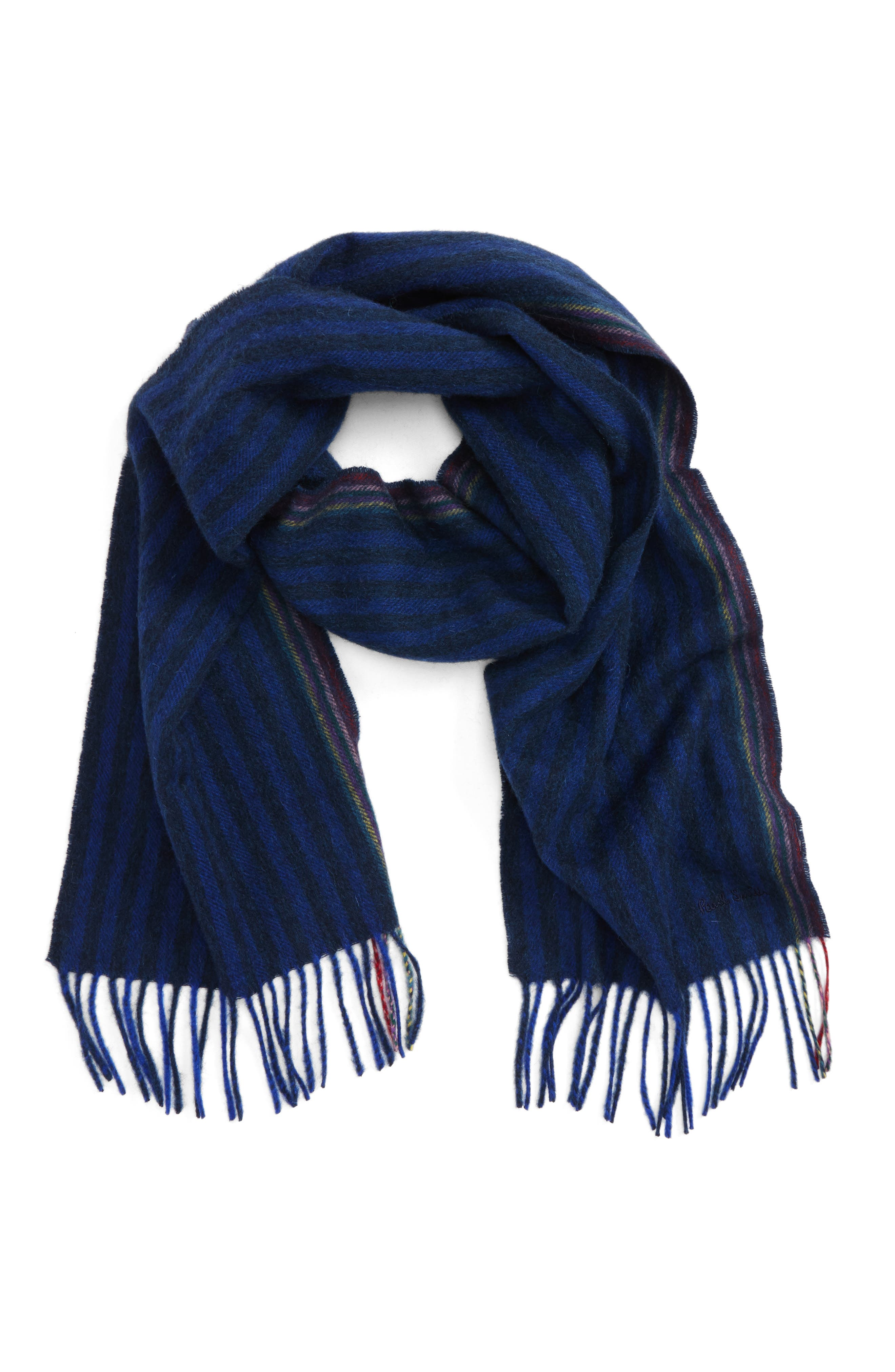 Paul Smith Stripe Wool & Cashmere Scarf
