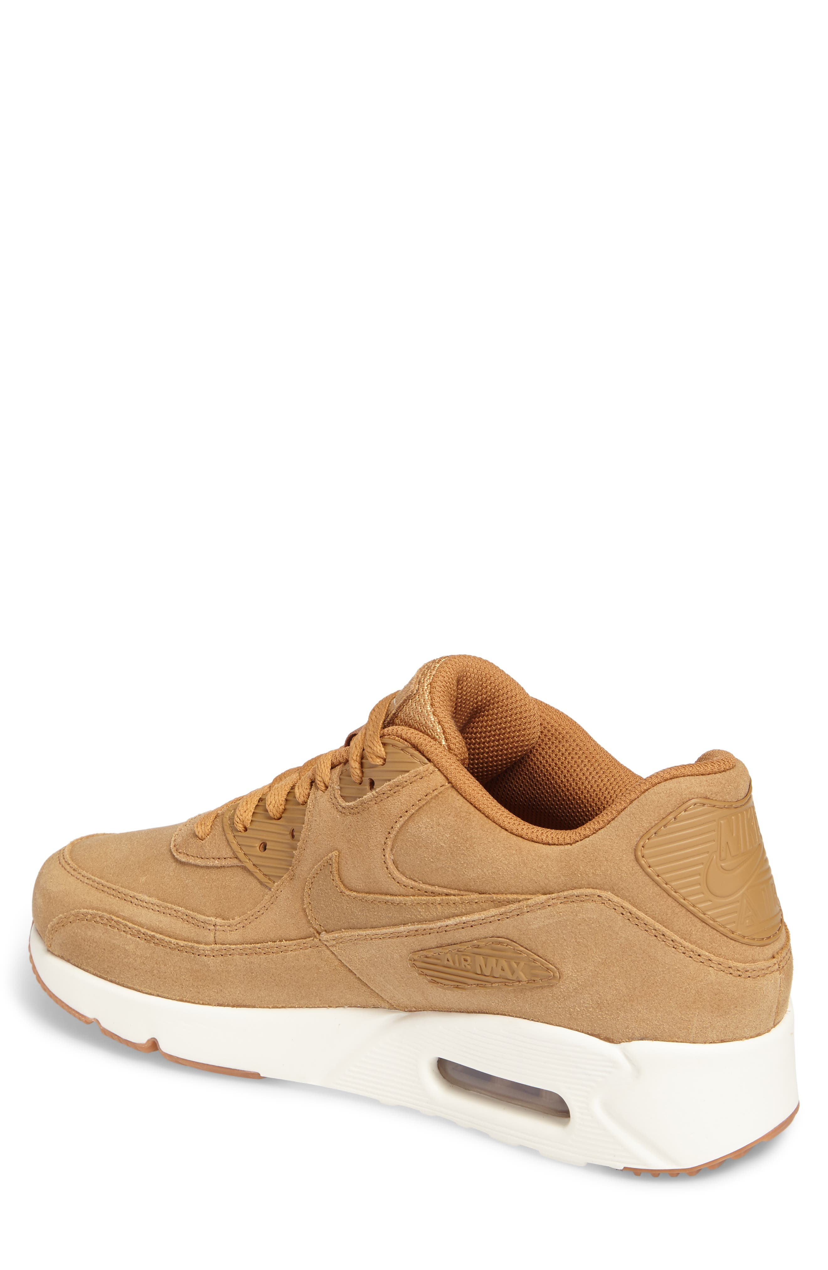 Air Max 90 Ultra 2.0 Sneaker,                             Alternate thumbnail 2, color,                             Flax/Flax/Sail/Gum Med Brown