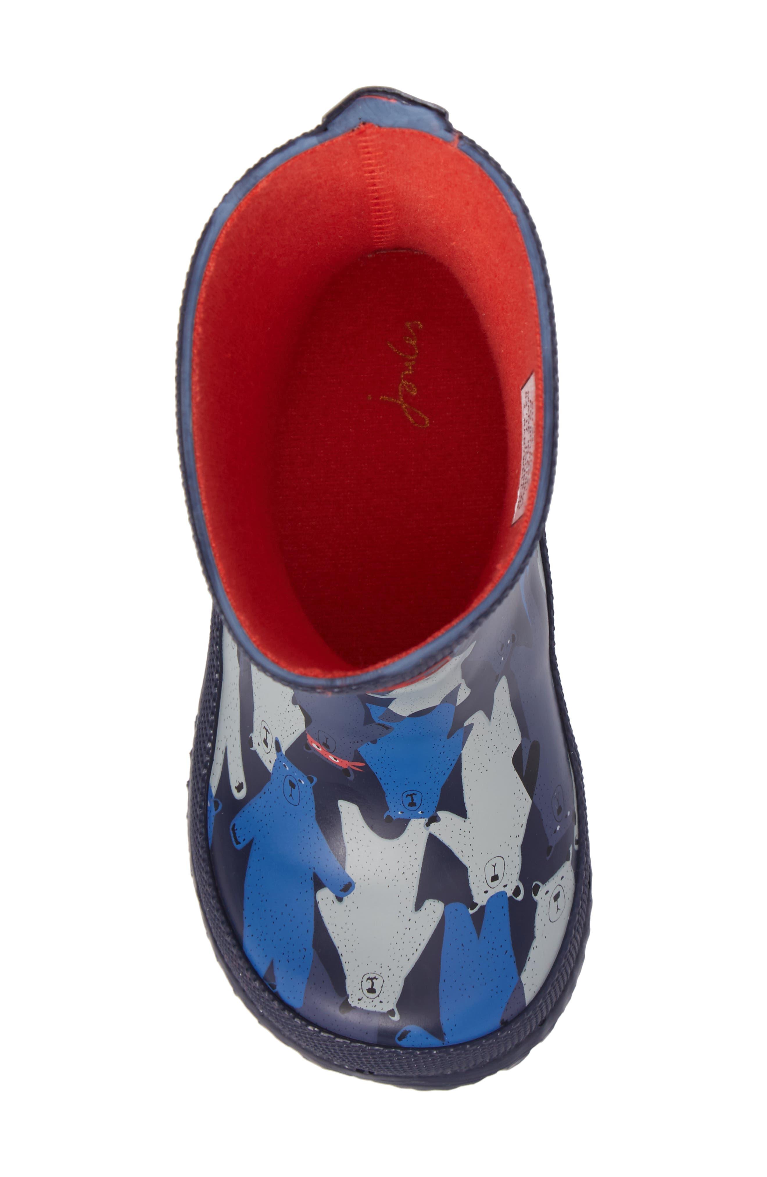 Printed Waterproof Rain Boot,                             Alternate thumbnail 5, color,                             Multi Bear Camo