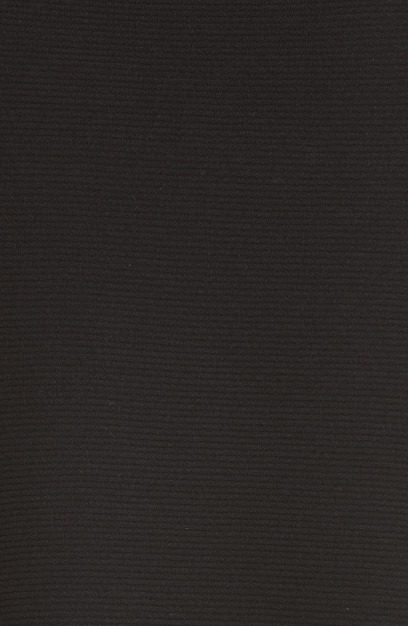 Link Stitch Sweater Dress,                             Alternate thumbnail 5, color,                             Black