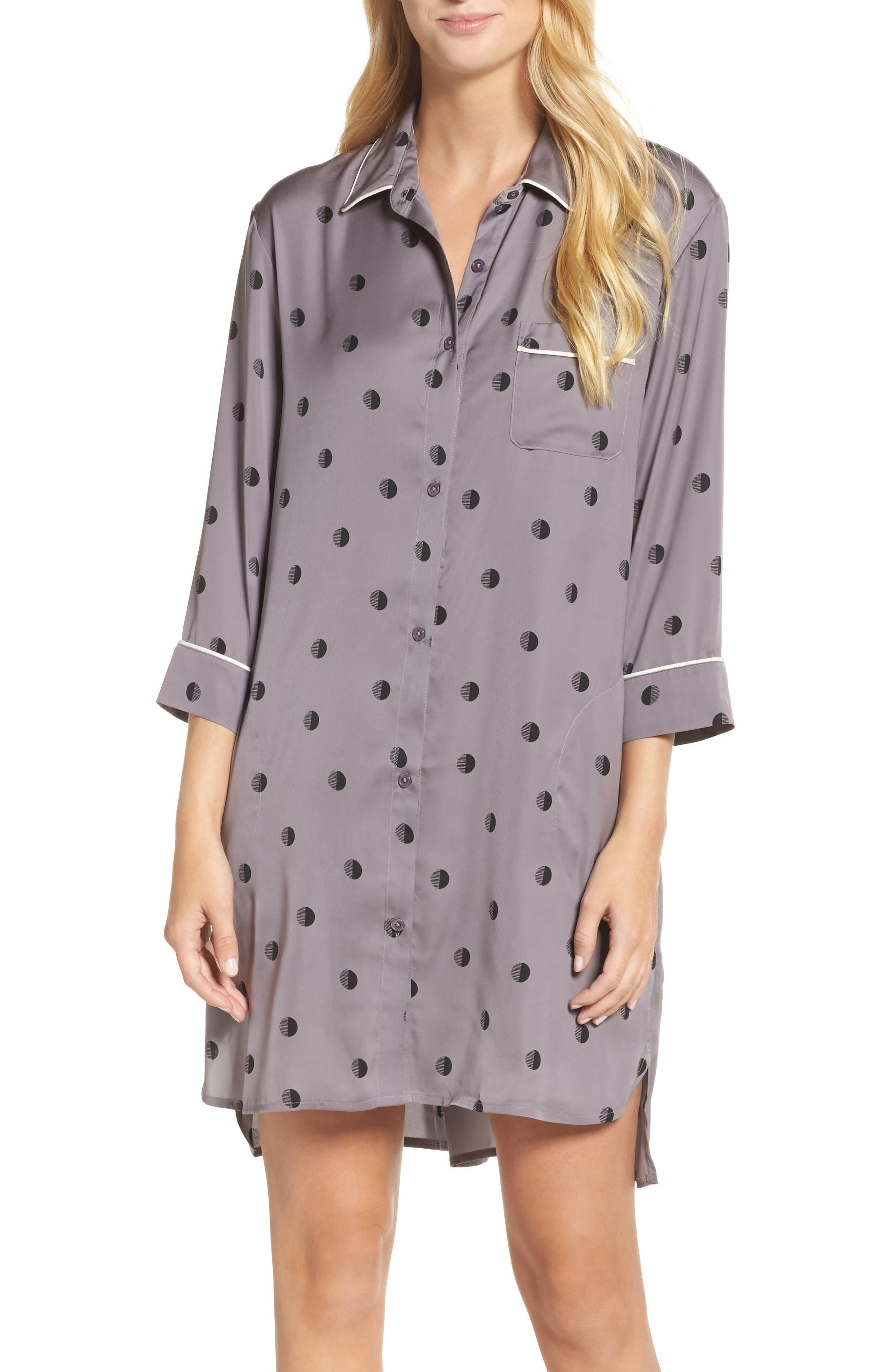 DKNY Washed Satin Sleep Shirt