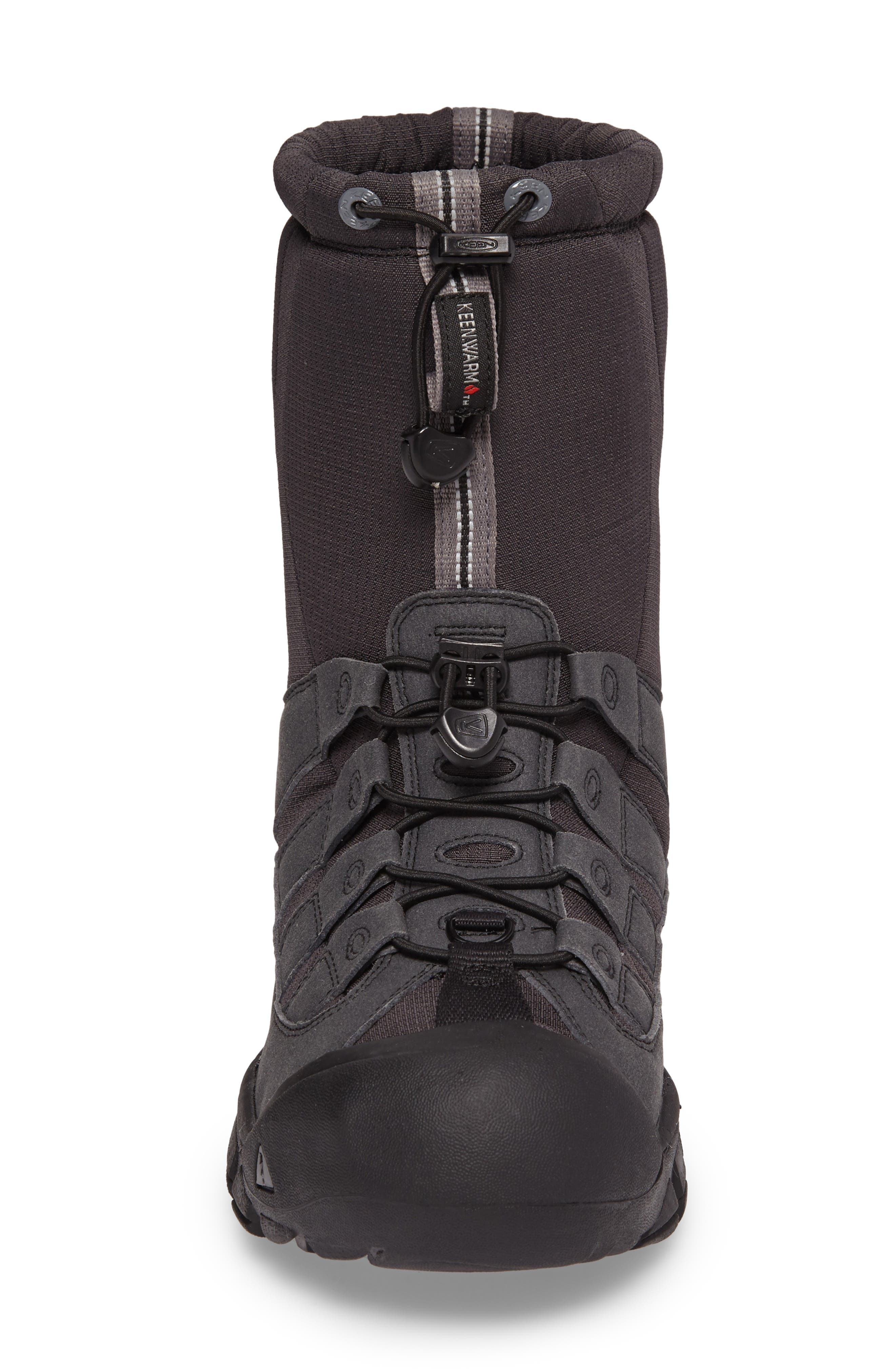 Winterport II Waterproof Insulated Snow Boot,                             Alternate thumbnail 4, color,                             Black/ Frost Gray