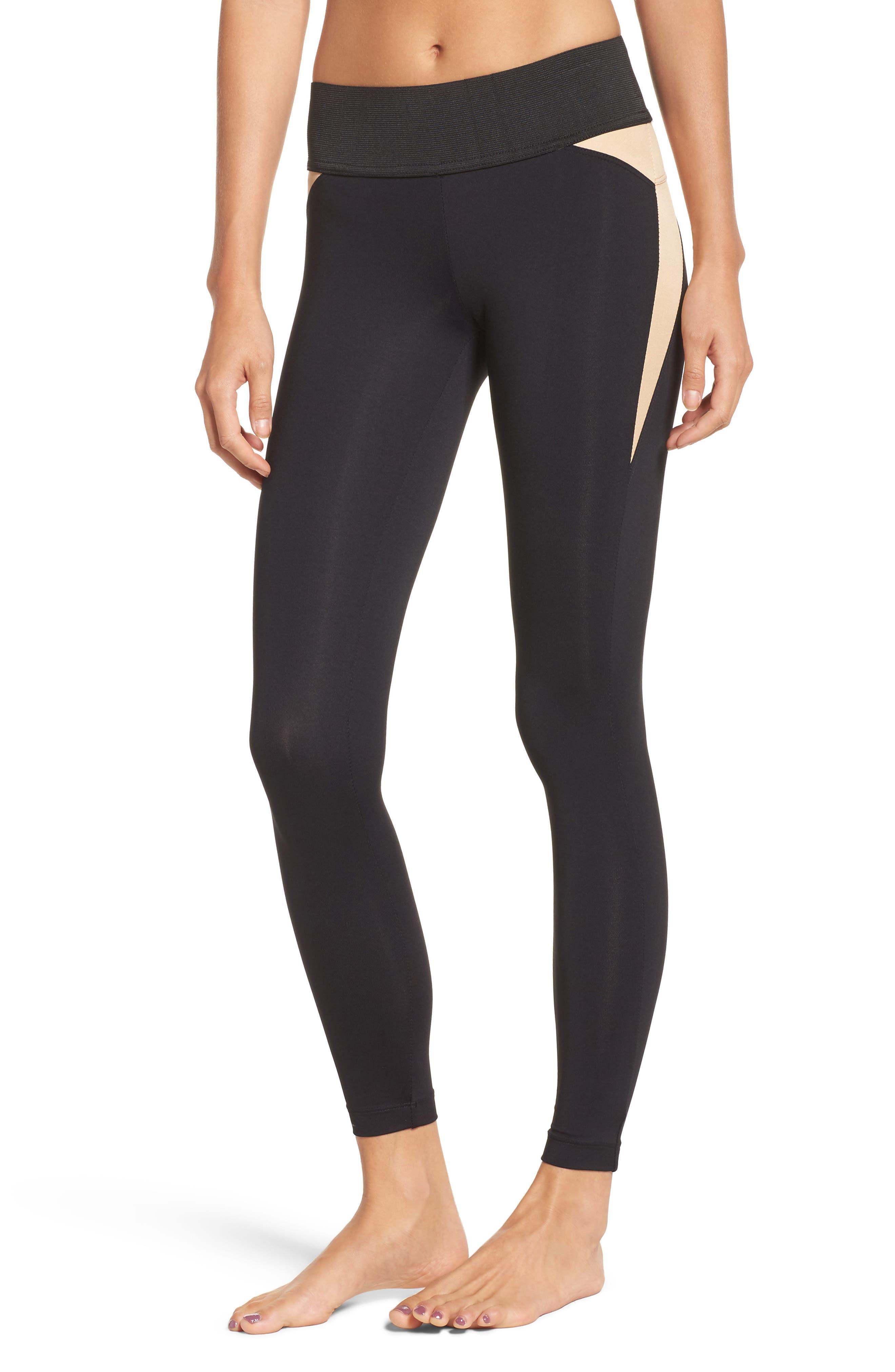 Grand Leggings,                         Main,                         color, Black/ Aurum