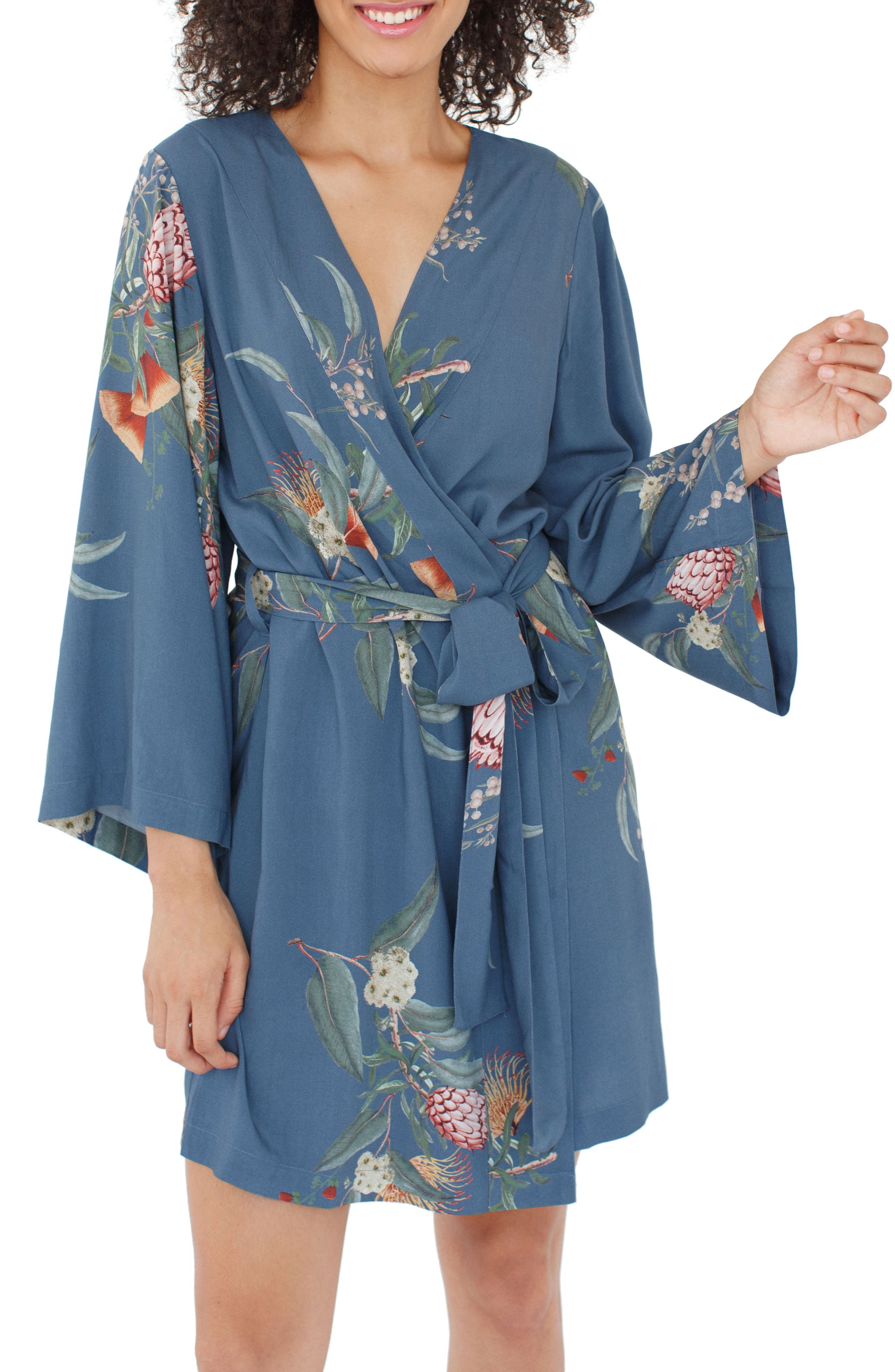 Alternate Image 2  - Plum Pretty Sugar Floral Kimono Robe