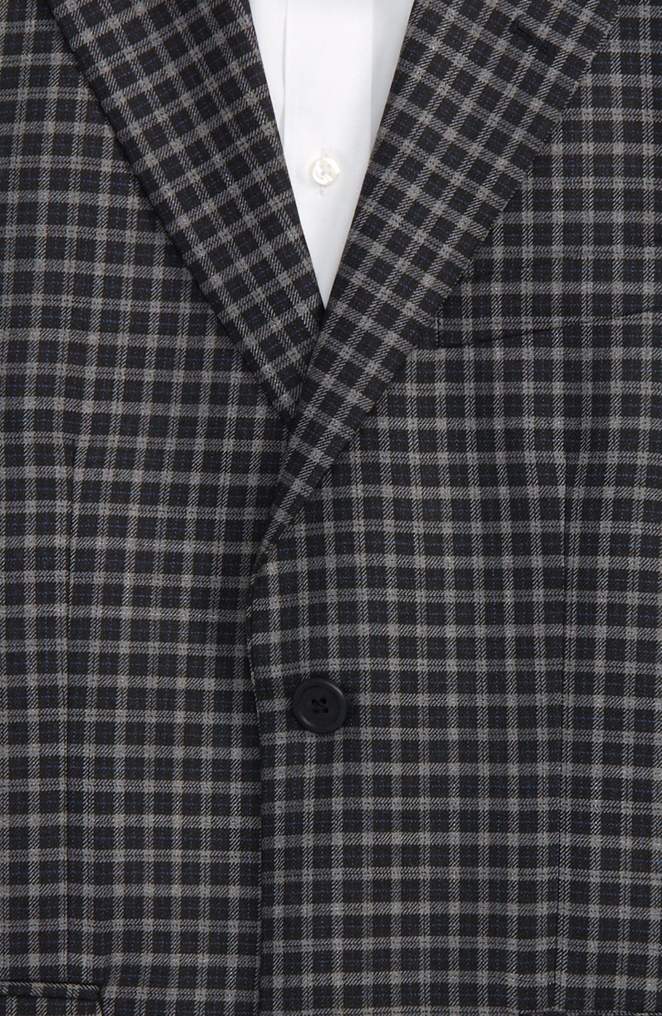 Alternate Image 2  - JB Jr Plaid Wool Sport Coat (Big Boys)