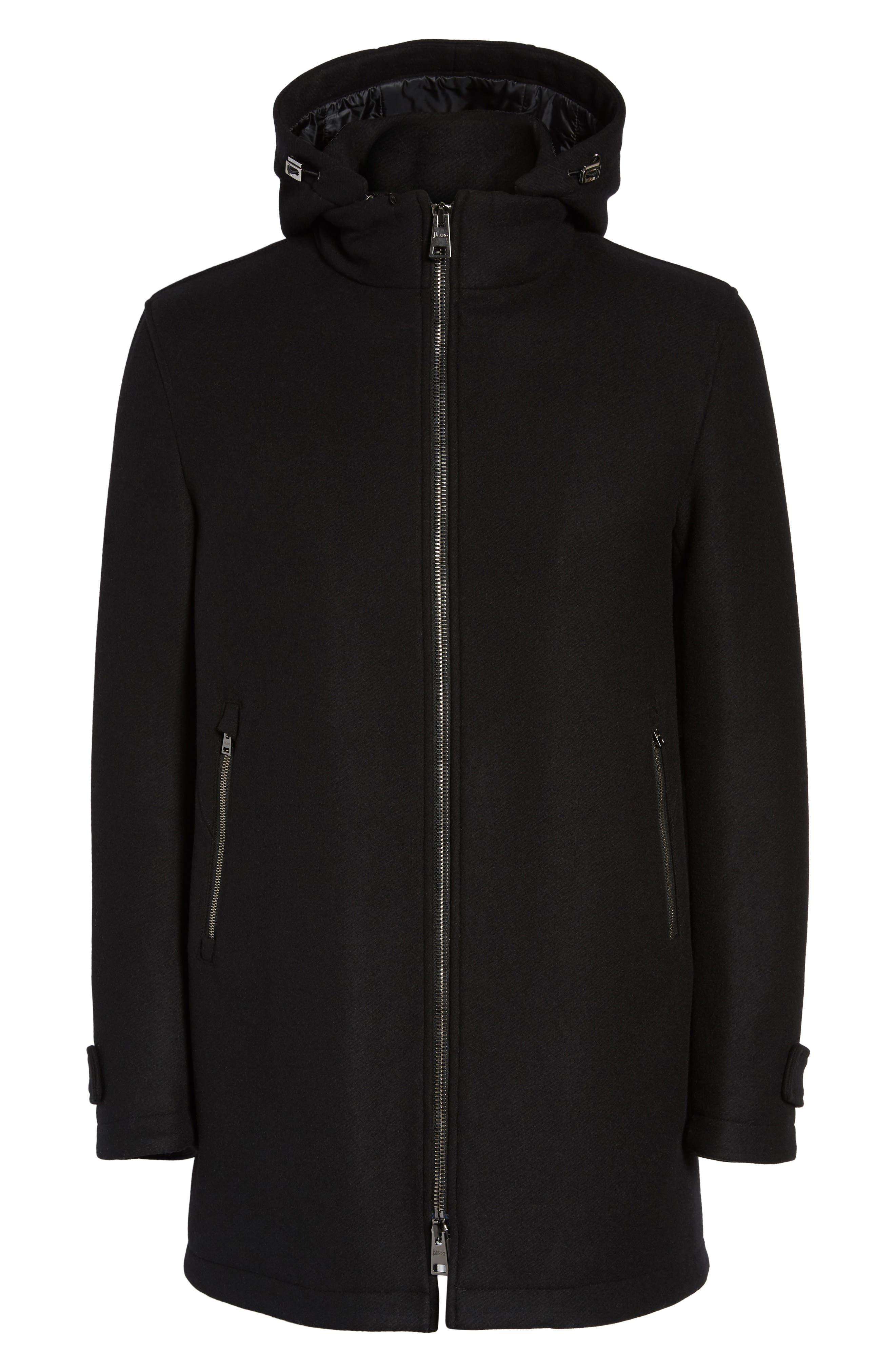 Alternate Image 6  - Herno Wool Blend Hooded Coat