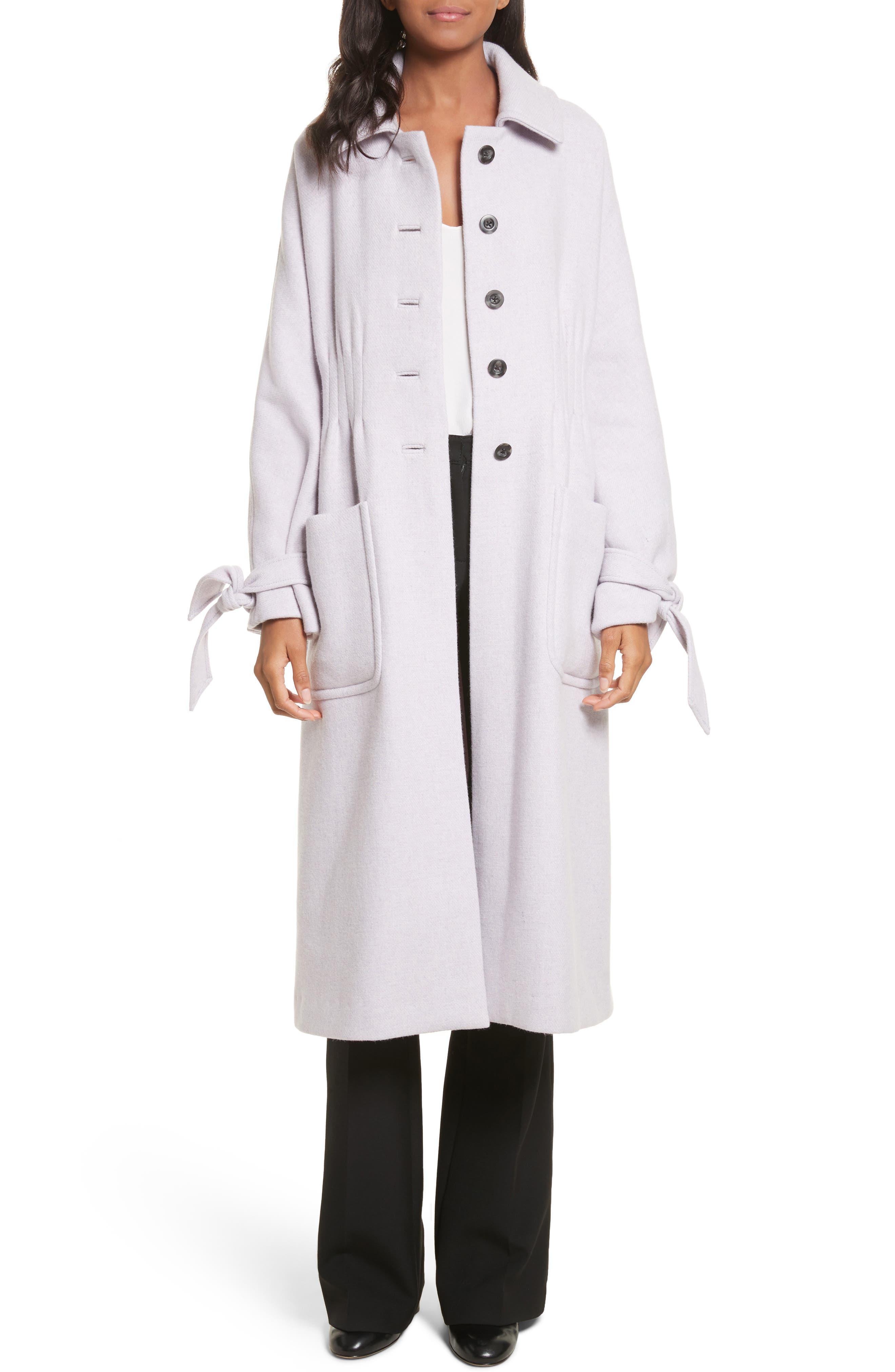 Wool Blend Melton Coat,                             Main thumbnail 1, color,                             Dusty Lavender