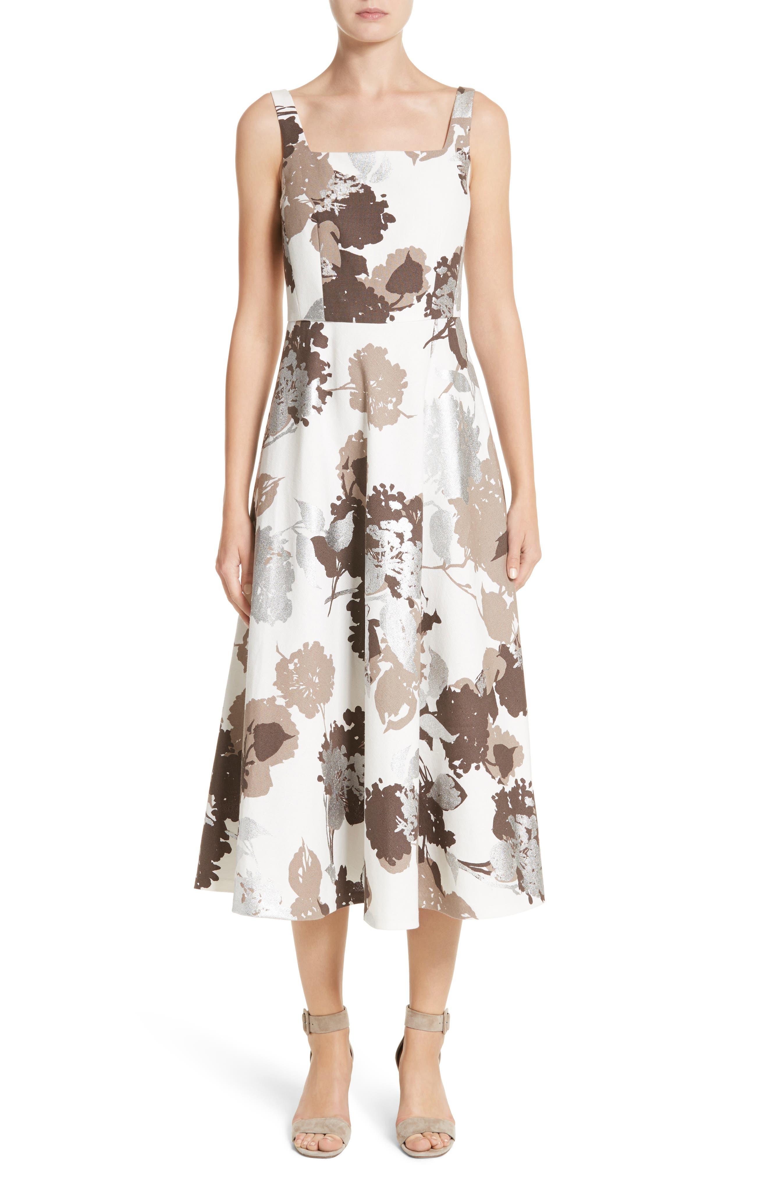 Lafayette 148 New York Arlene Print Midi Dress