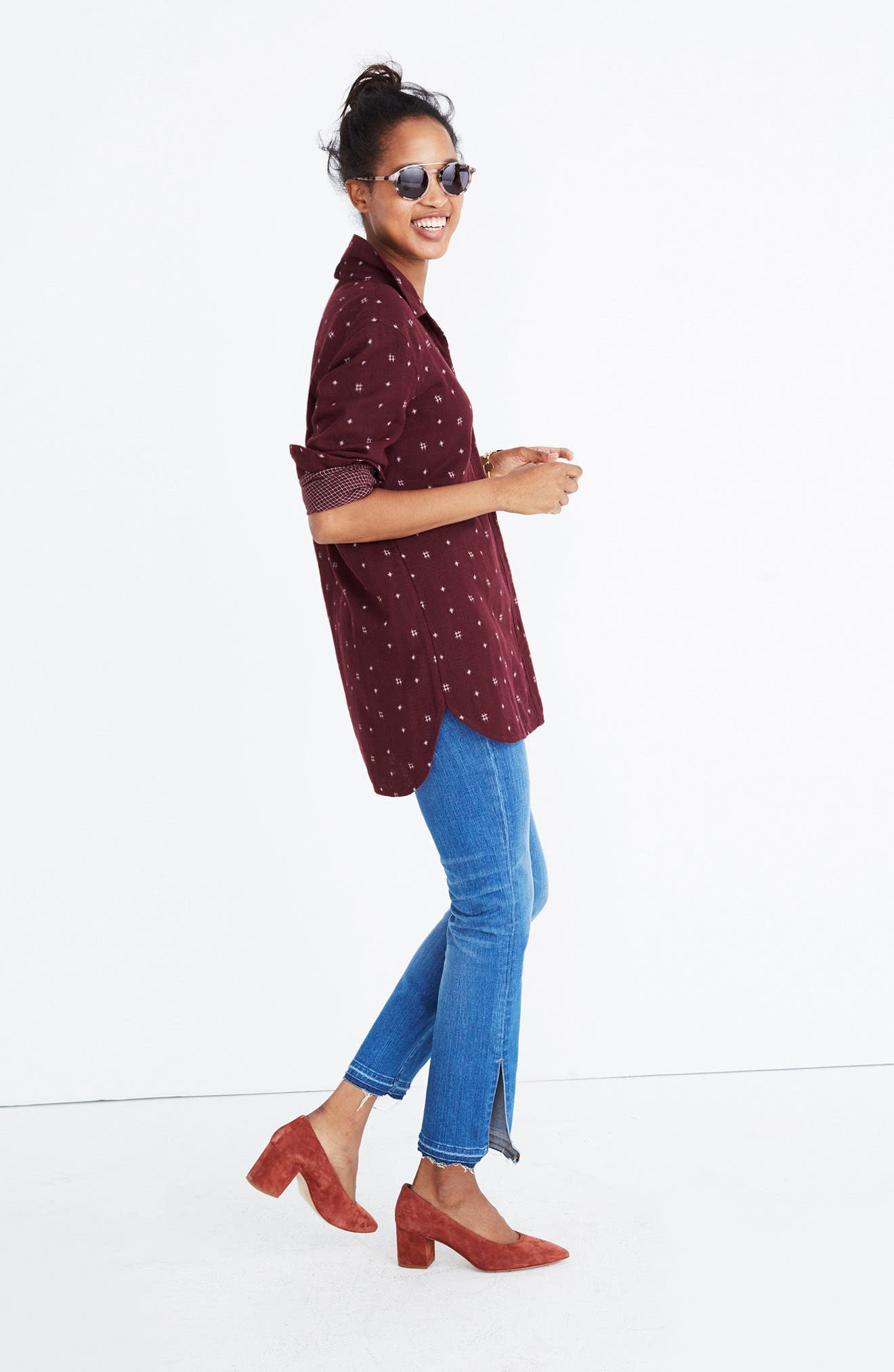 Alternate Image 2  - Madewell Double Face Classic Ex-Boyfriend Shirt