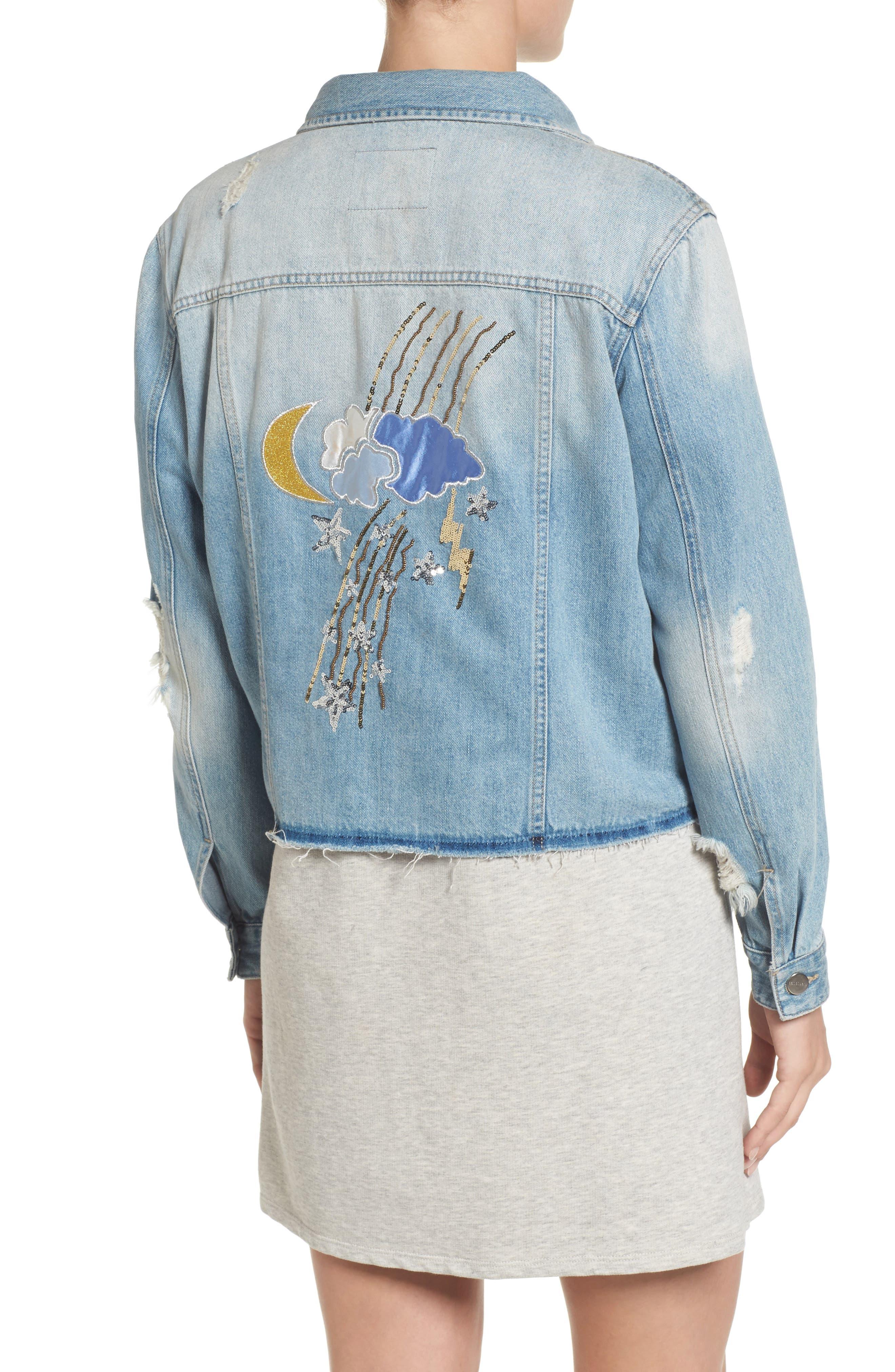 Milkyway Walker Denim Jacket,                             Alternate thumbnail 3, color,                             Margaux Wash