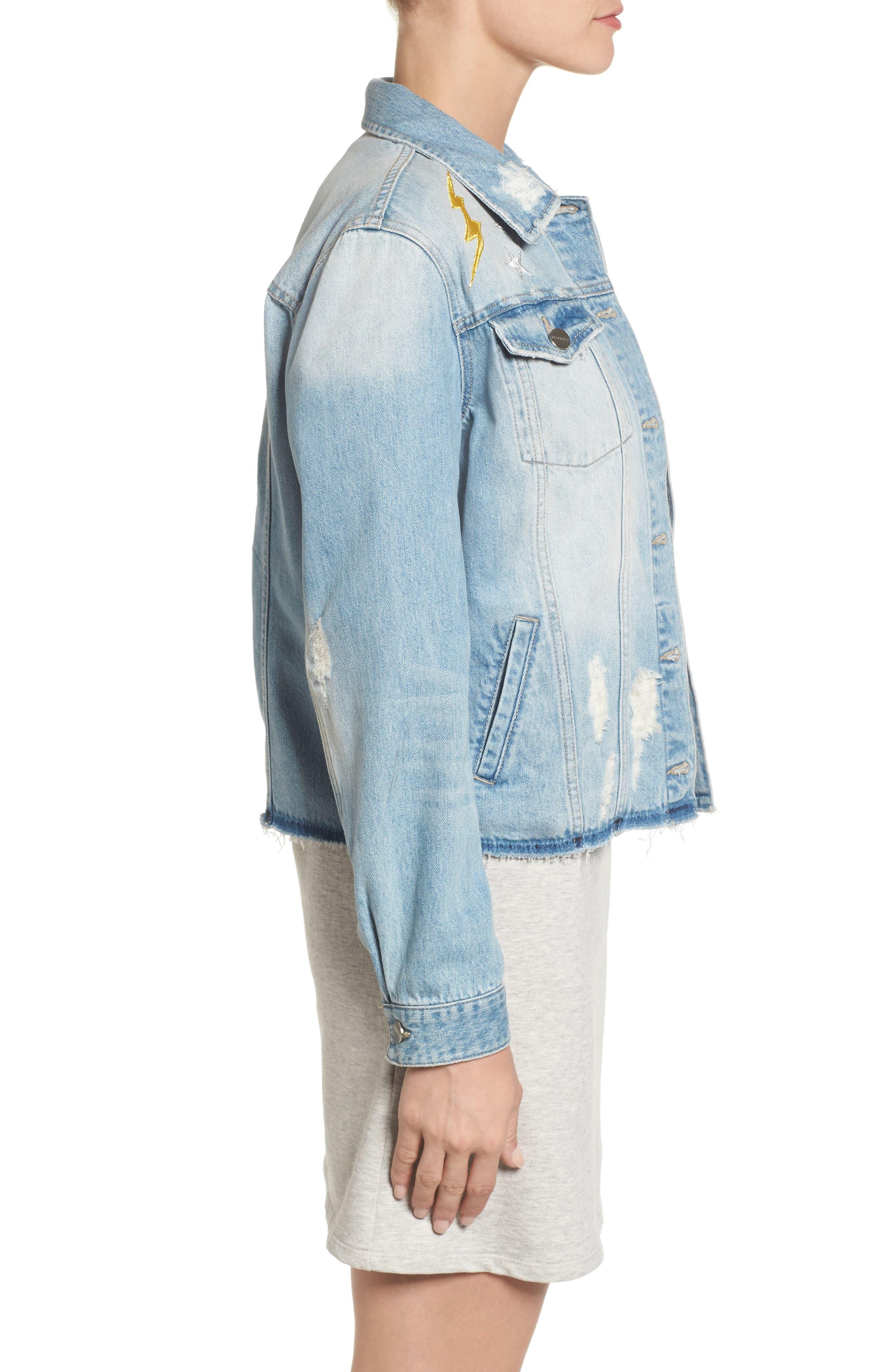 Milkyway Walker Denim Jacket,                             Alternate thumbnail 5, color,                             Margaux Wash