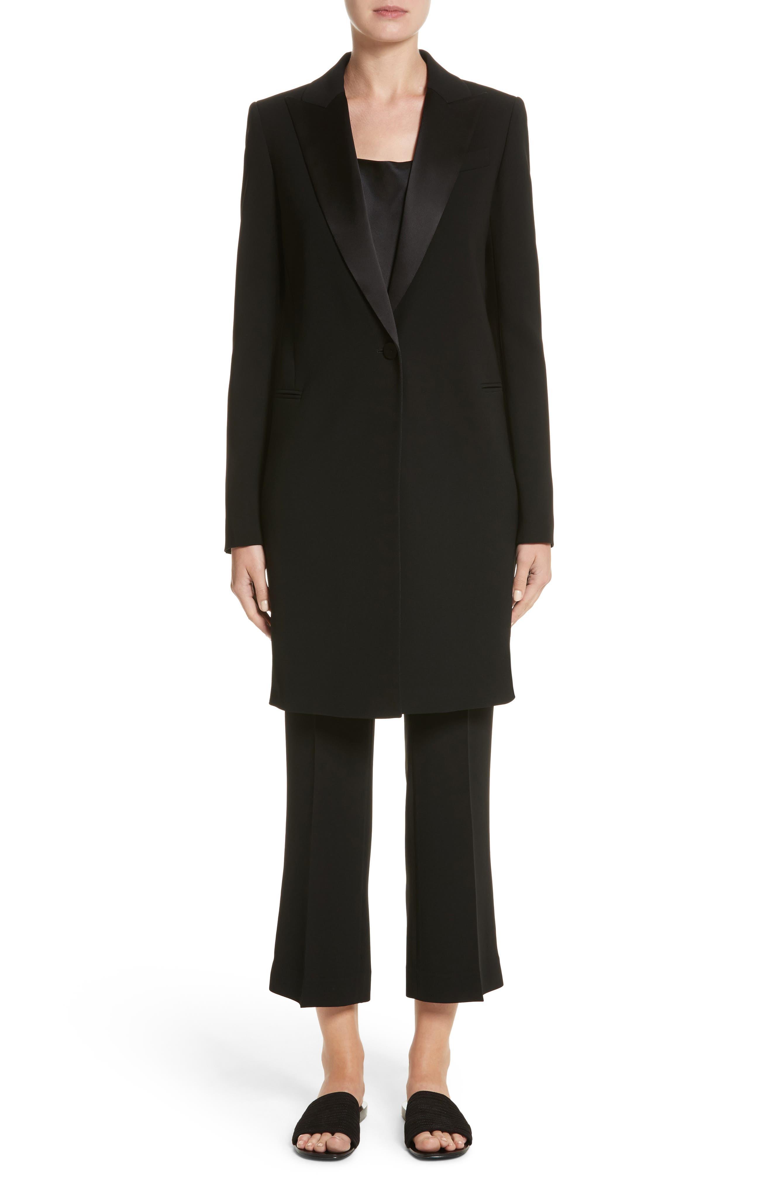 Alternate Image 7  - Lafayette 148 New York Satin Lapel Tuxedo Jacket