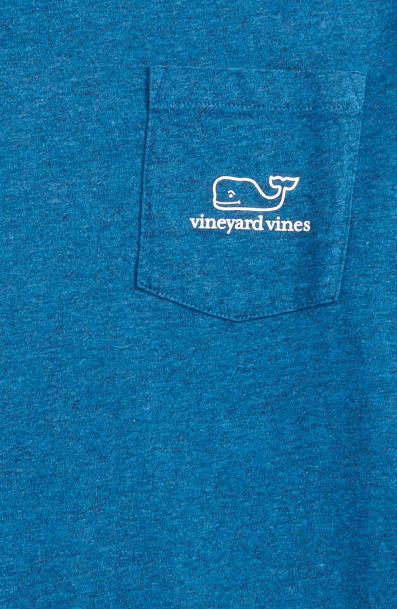 Whale Hooded T-Shirt,                             Alternate thumbnail 3, color,                             Schooner Blue