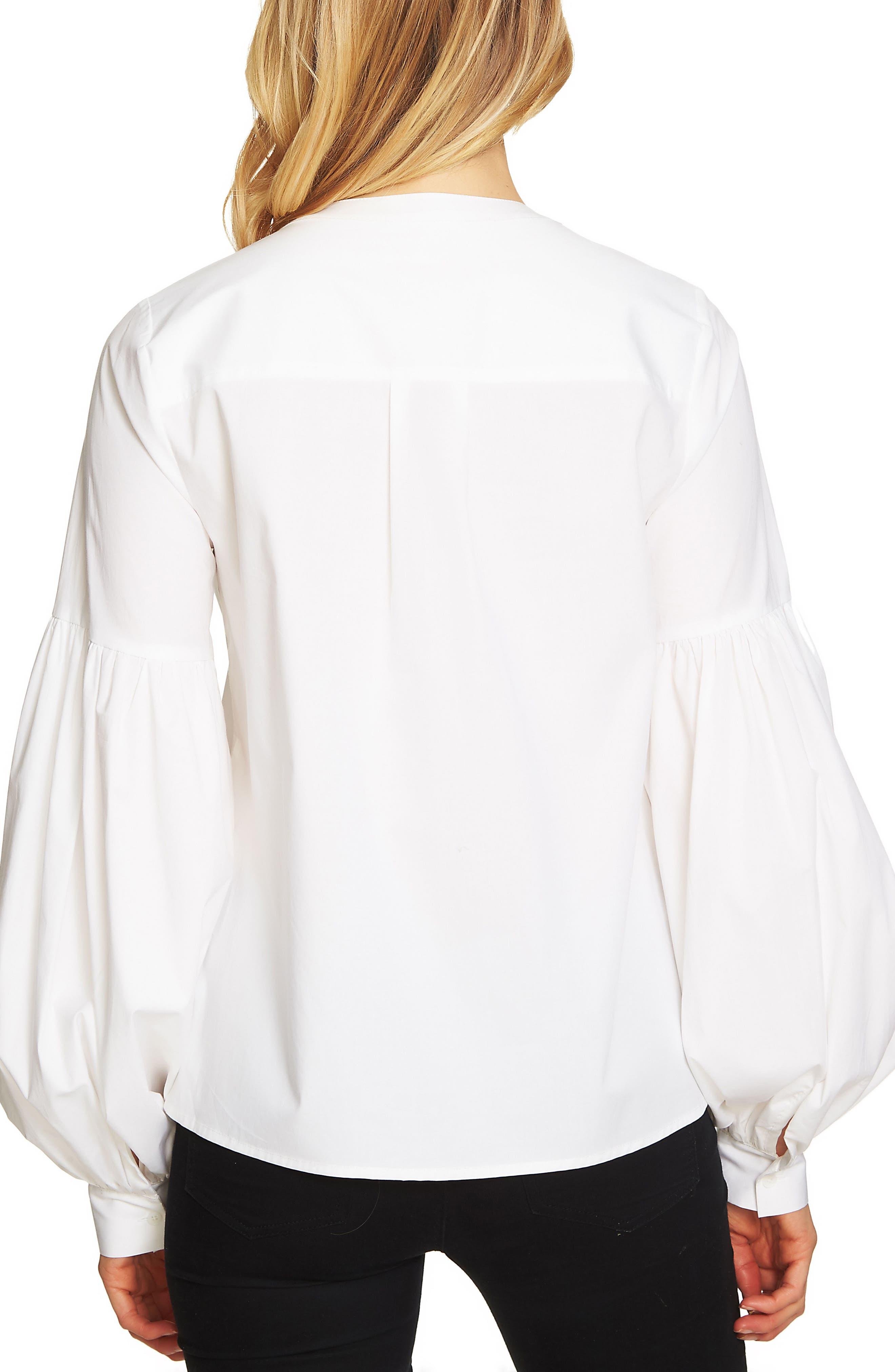 Blouson Sleeve Pintuck Blouse,                             Alternate thumbnail 2, color,                             Ultra White