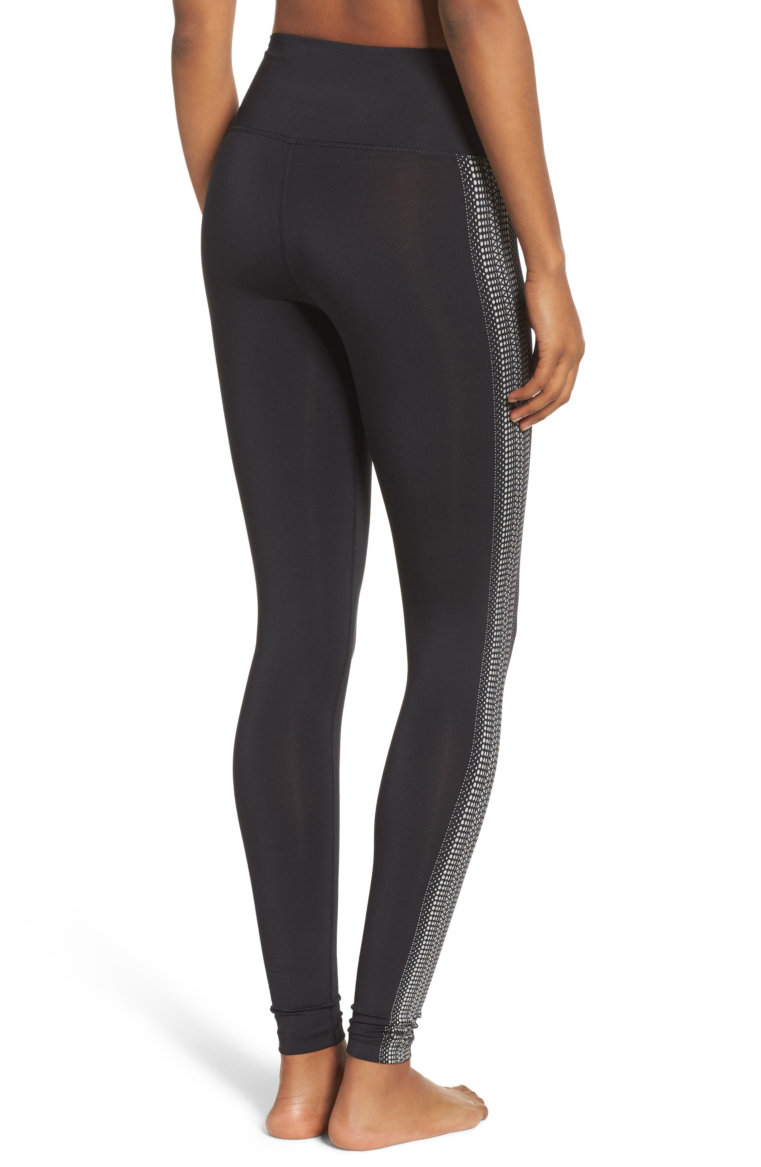 FP Movement Raku Reflective Leggings,                             Alternate thumbnail 2, color,                             Black